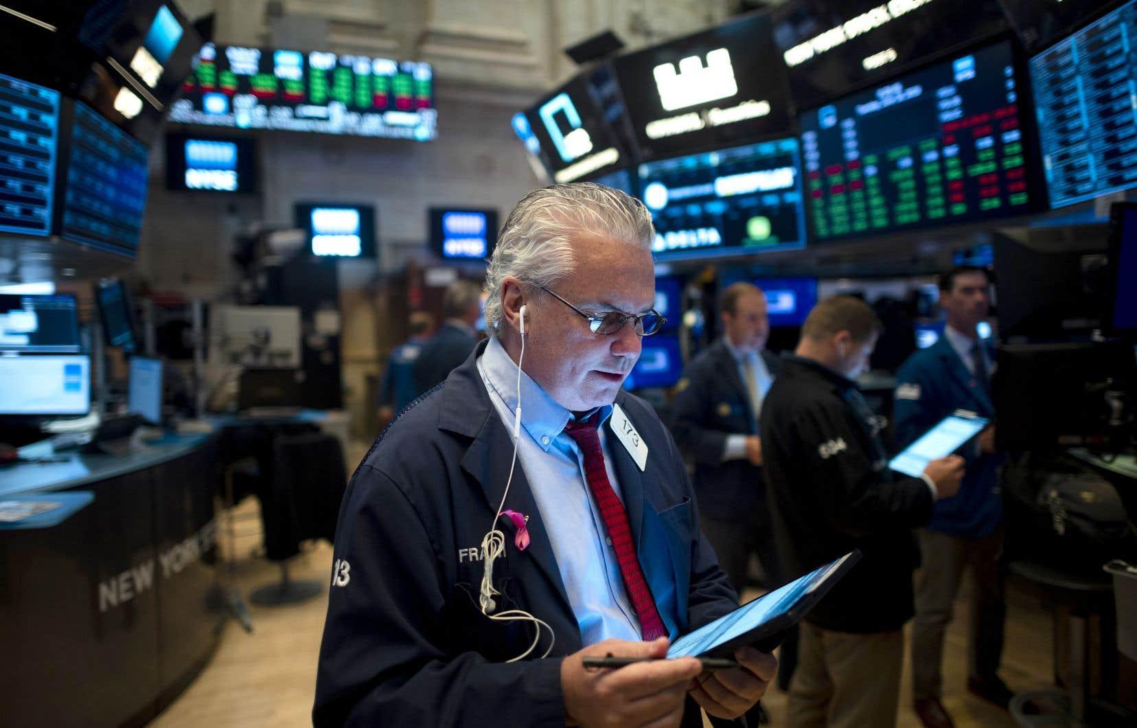 Un courtier à Wall Street