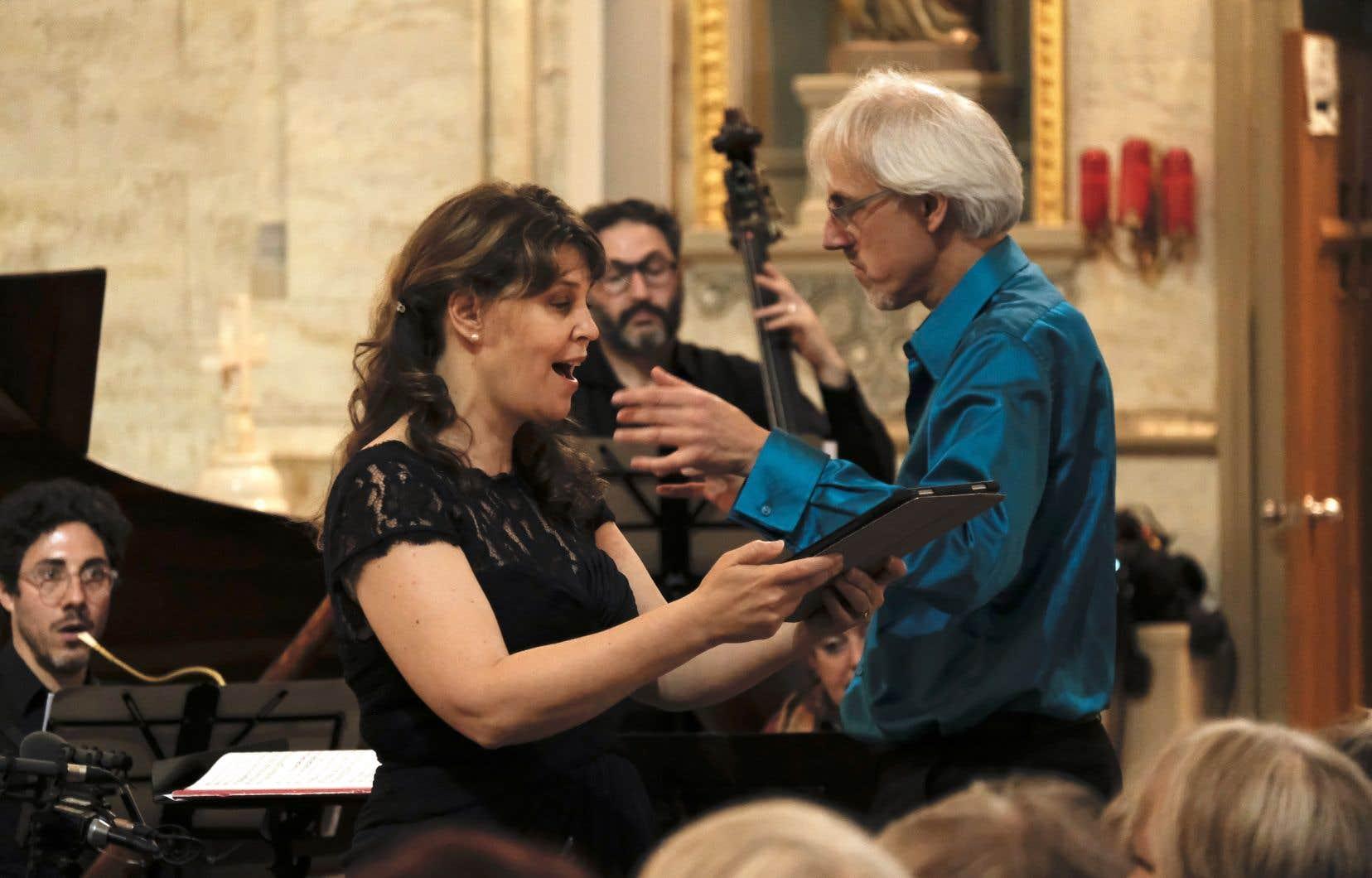 Jolle Greenleaf, soprano, de l'ensemble new-yorkais Tenet Vocal Artists, et Matthias Maute, chef d'orchestre et co-directeur du Festival Montréal baroque