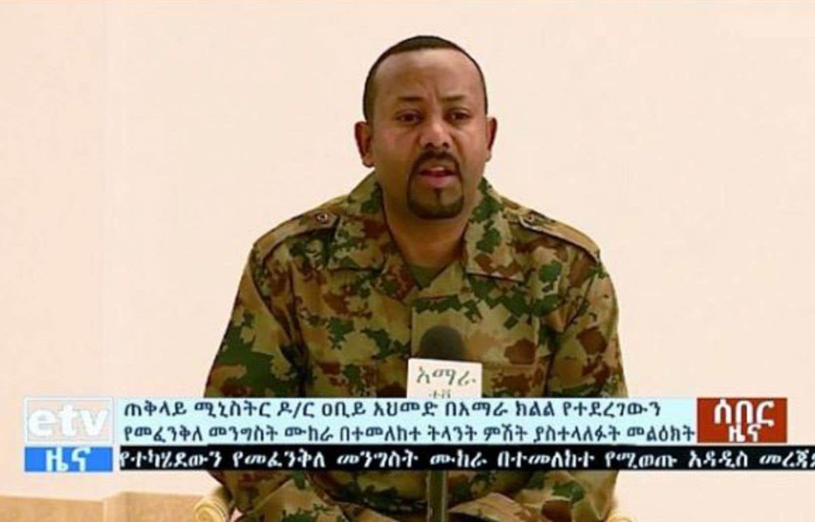 Le premier ministre éthiopien, Abiy Ahmed, s'est adressé à la nation à la suite de l'échec d'une tentative de «coup d'État» orchestrée par le chef de l'armée.