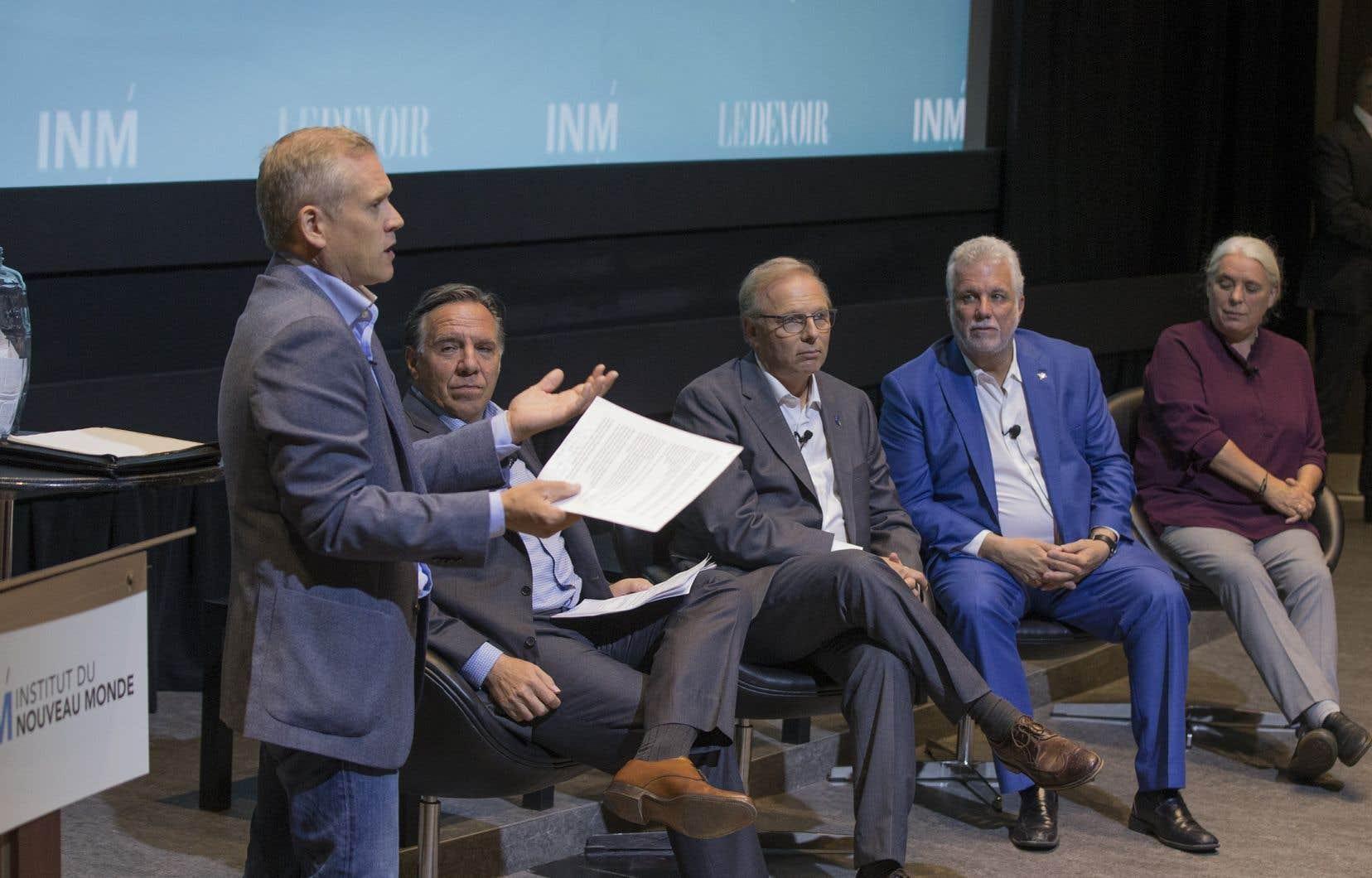 Un débat avec les quatre chefs organisé par l'Institut du Nouveau Monde et «Le Devoir».