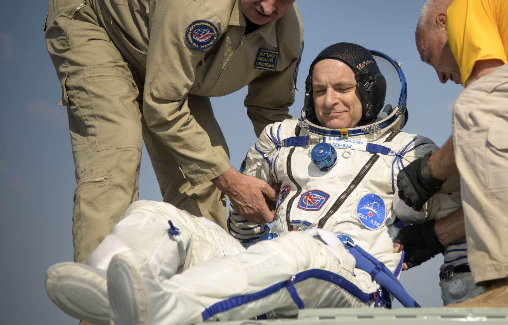 David Saint-Jacques est revenu éprouvé de son périple dans l'espace.