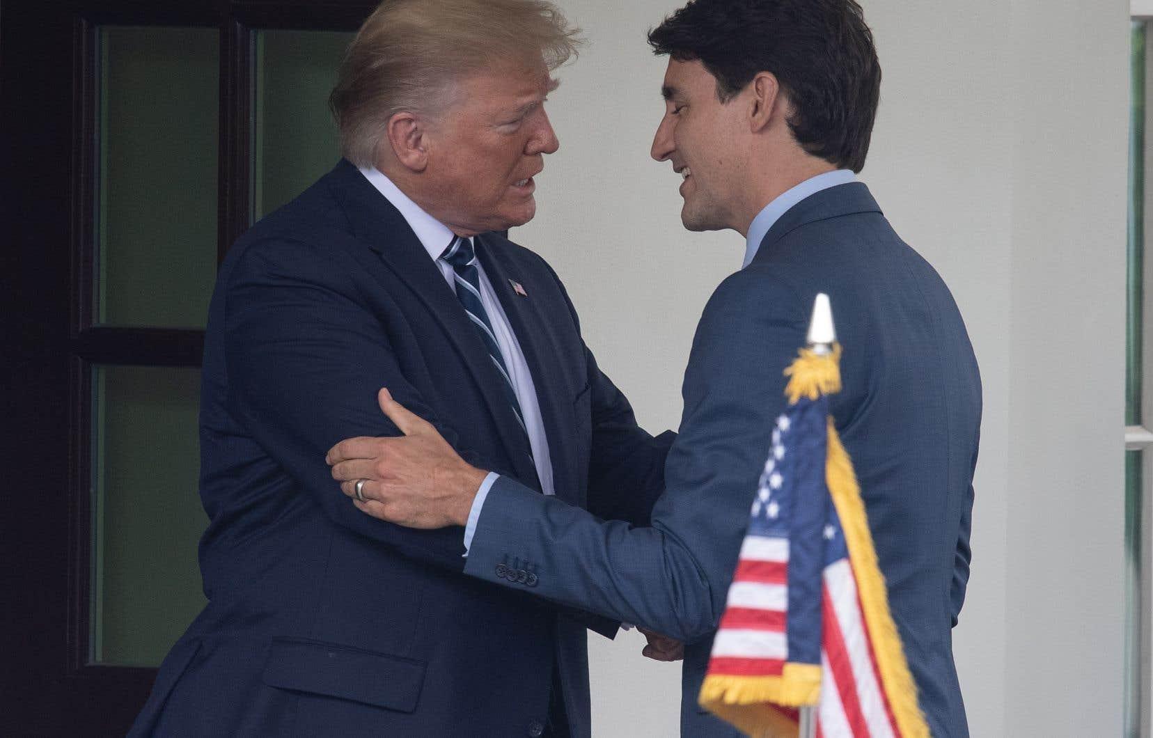 Donald Trump a promis son soutien aux détenus canadiens en Chine lors d'une réunion avec Justin Trudeau jeudi dernier à la Maison-Blanche.