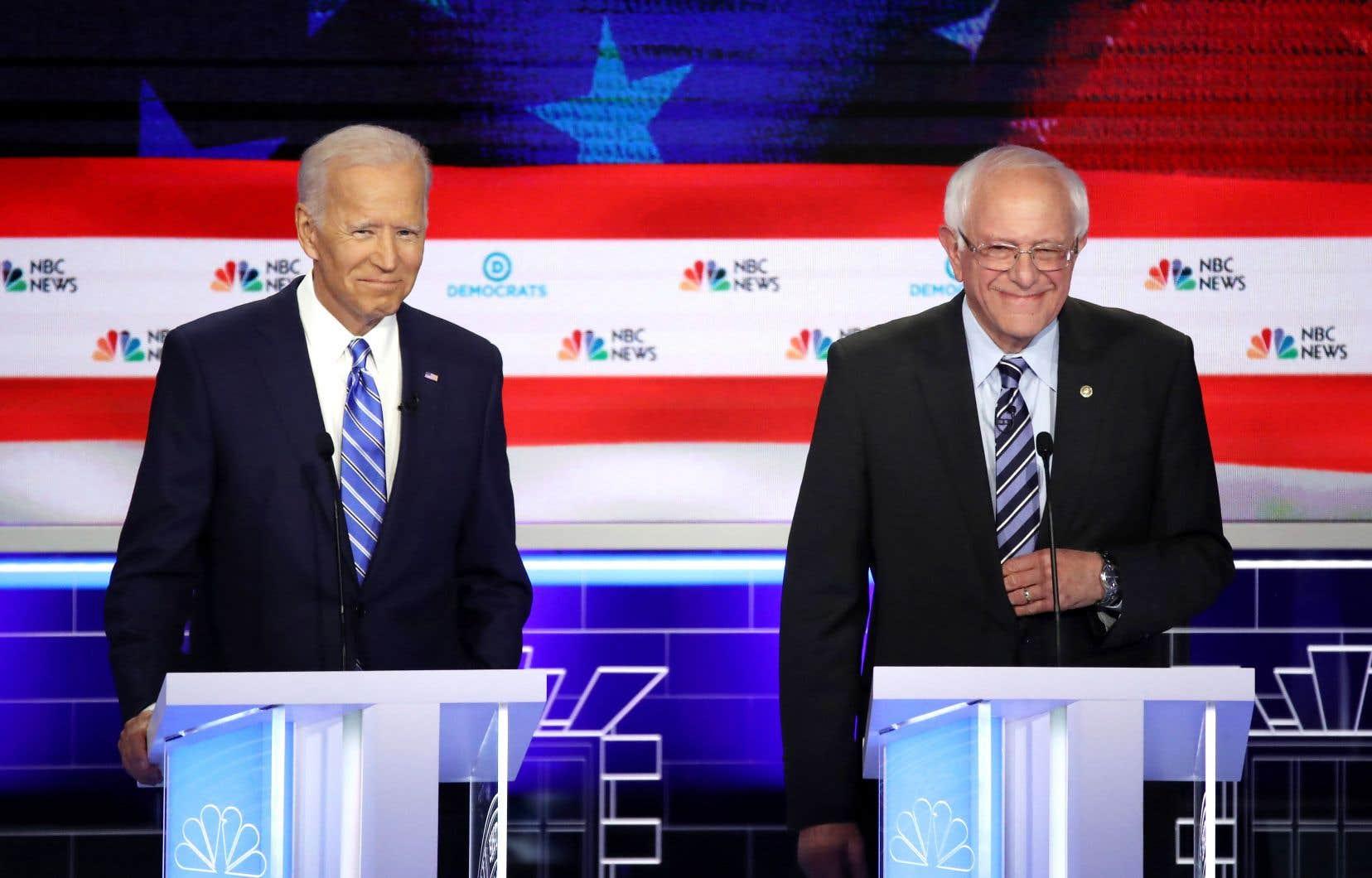 Le débat de jeudi soir mettait en scène les deuxmeneursactuels de cette course, soit Joe Biden et Bernie Sanders, ainsi que deux candidats qui montent dans les sondages, Kamala Harris etPete Buttigieg.