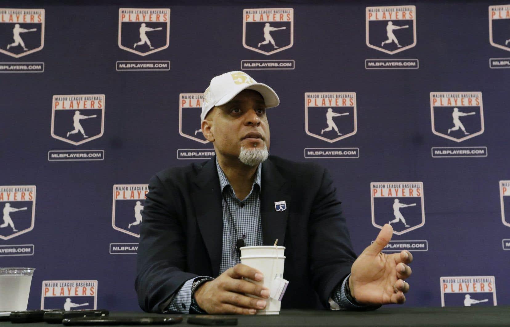 Le président de l'Association des joueurs de baseball, Tony Clark
