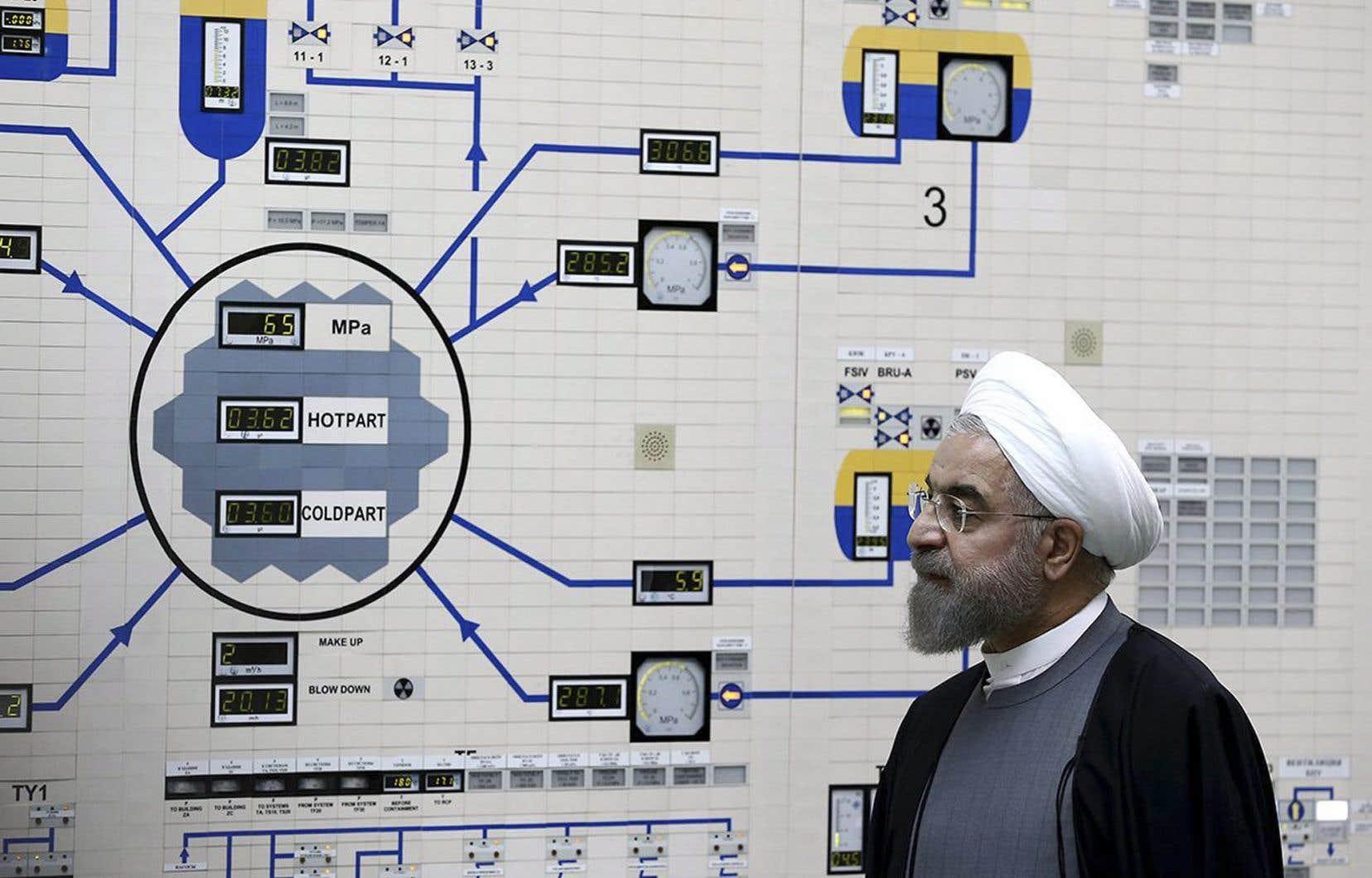 Le président iranienHassan Rohani