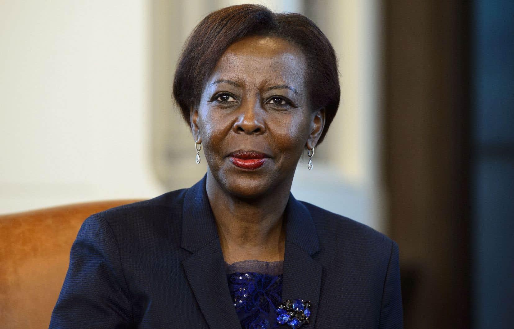 La secrétaire générale de l'Organisation internationale de la Francophonie,Louise Mushikiwabo