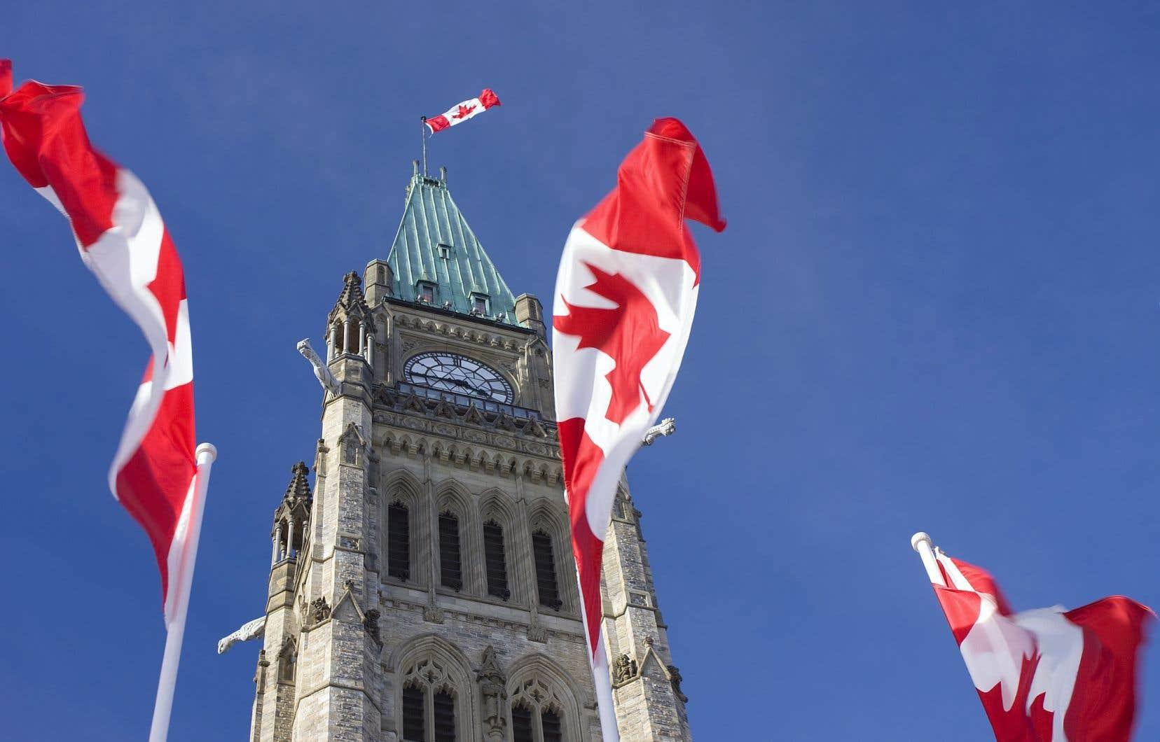 La tour de la Paix, qui surplombe le parlement du Canada