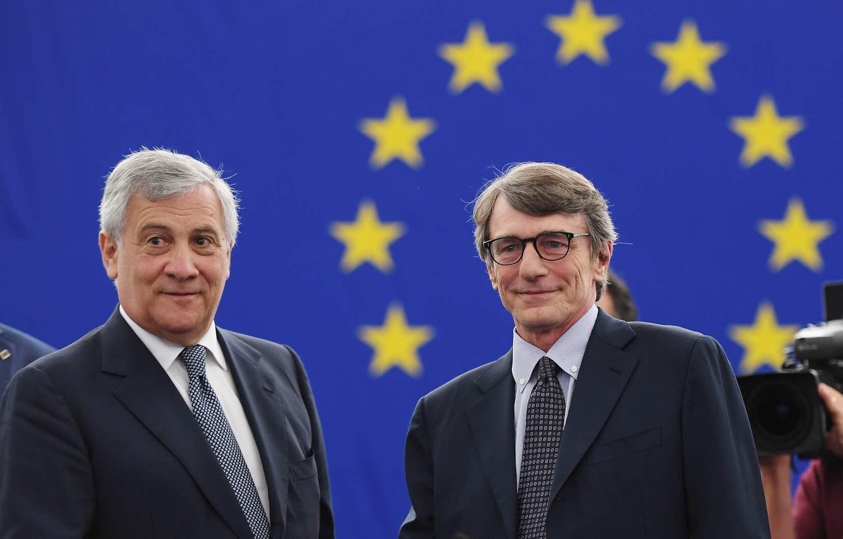 Le social-démocrate italien David Sassoli (à droite)