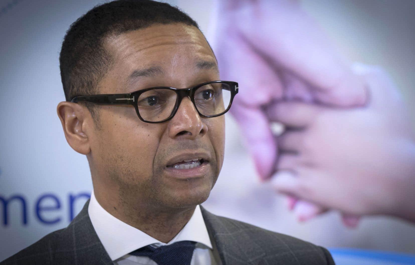Le ministre délégué à la Santé et aux Services sociaux, Lionel Carmant
