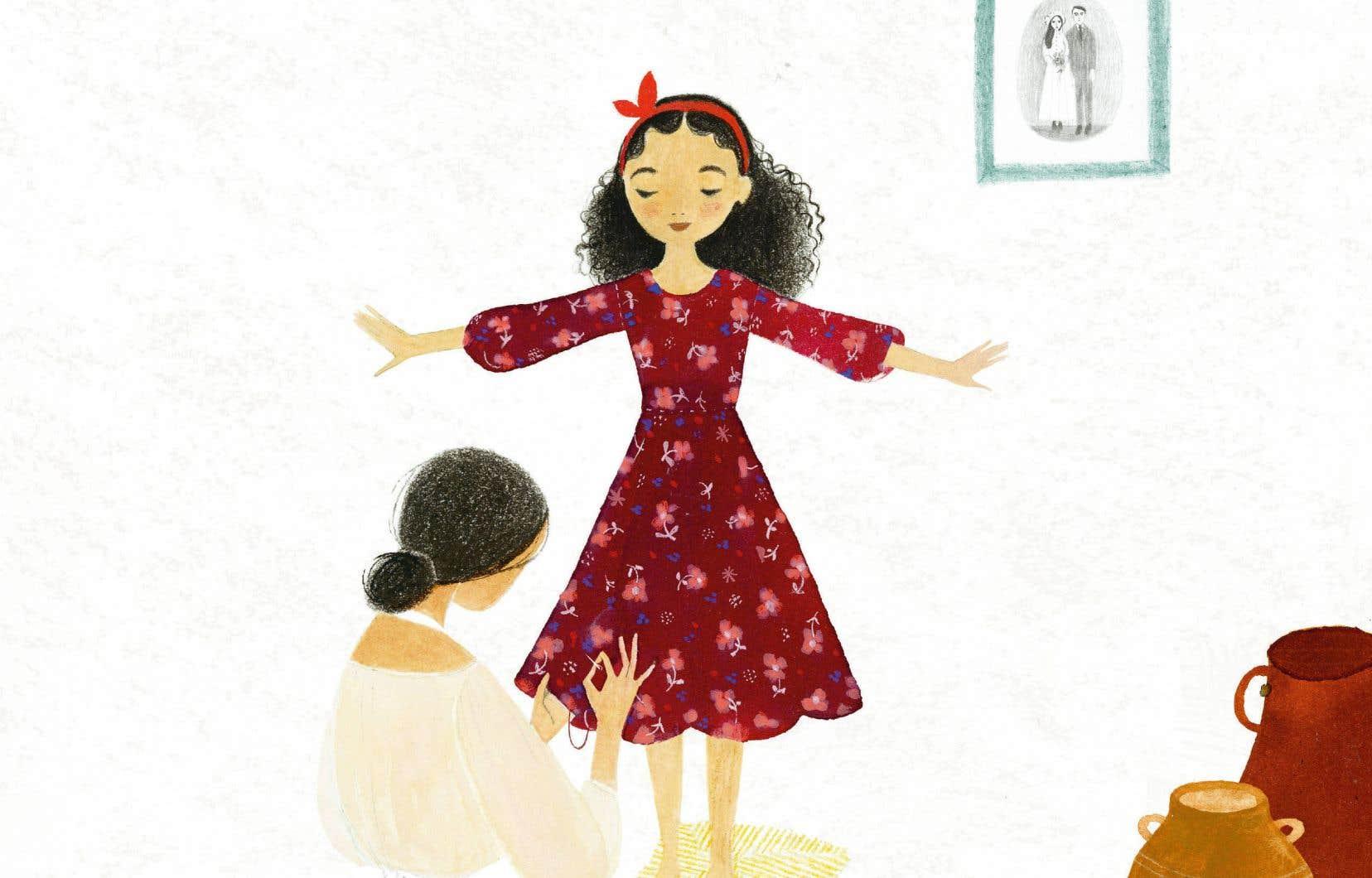 Inséparables, une fillette et sa petite robe fleurie passent le plus clair de leur temps ensemble jusqu'au jour où la jeune fille quitte son pays natal.