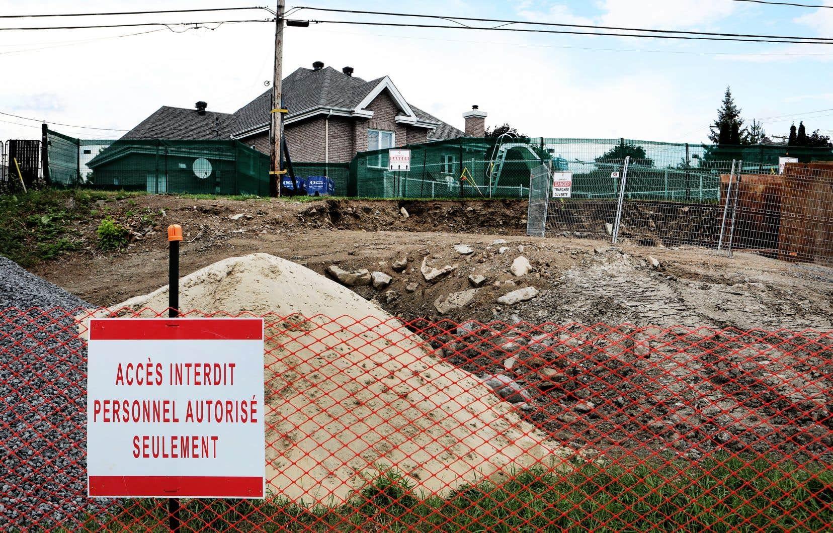En 2018, des travaux d'urgence ont été menés sur certains tronçons du pipeline Trans-Nord, dont des portions de la conduite situées à Laval (sur notre photo).