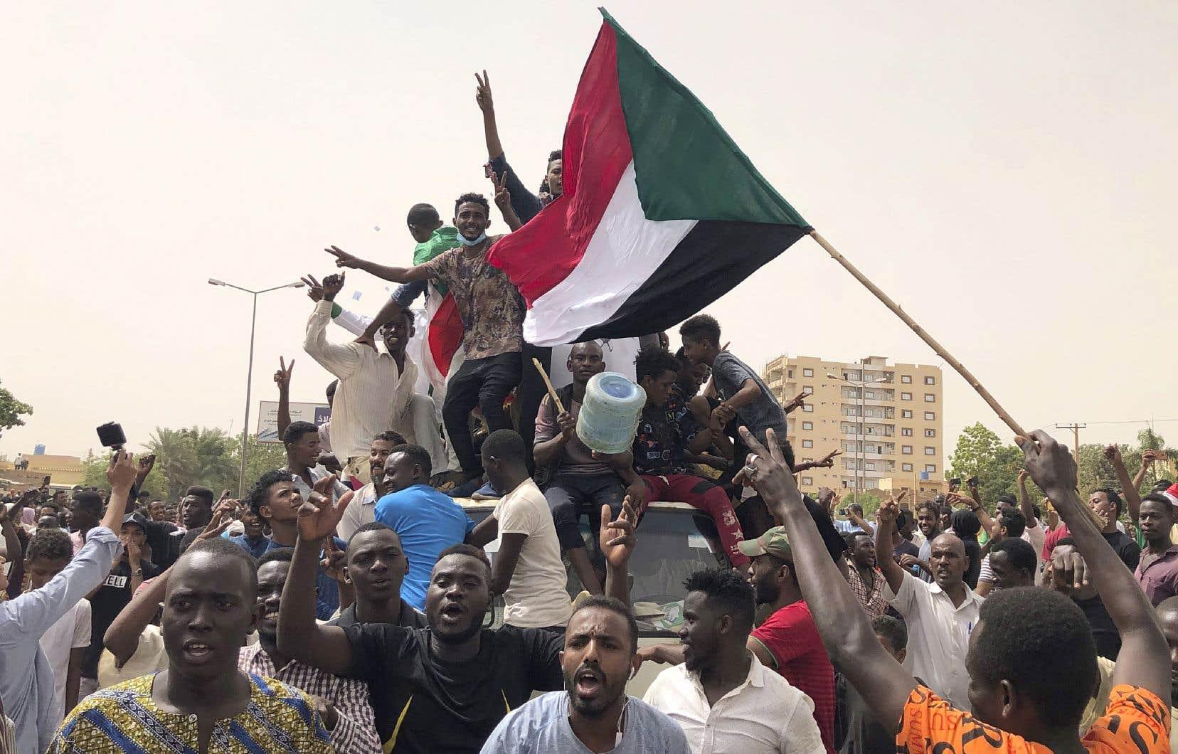 Une manifestation contre le conseil militaire, à Khartoum, le 30 juin dernier