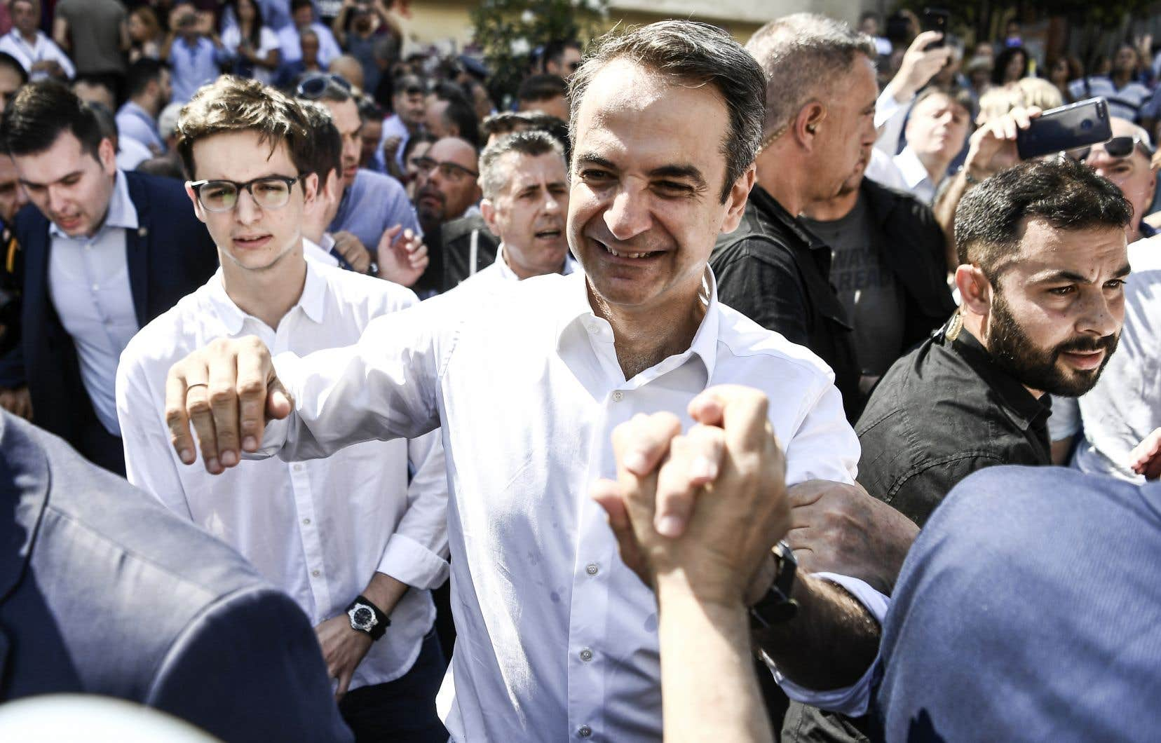 Kyriakos Mitsotakis,président de la Nouvelle Démocratie, le principal parti de droite de l'échiquier politique en Grèce