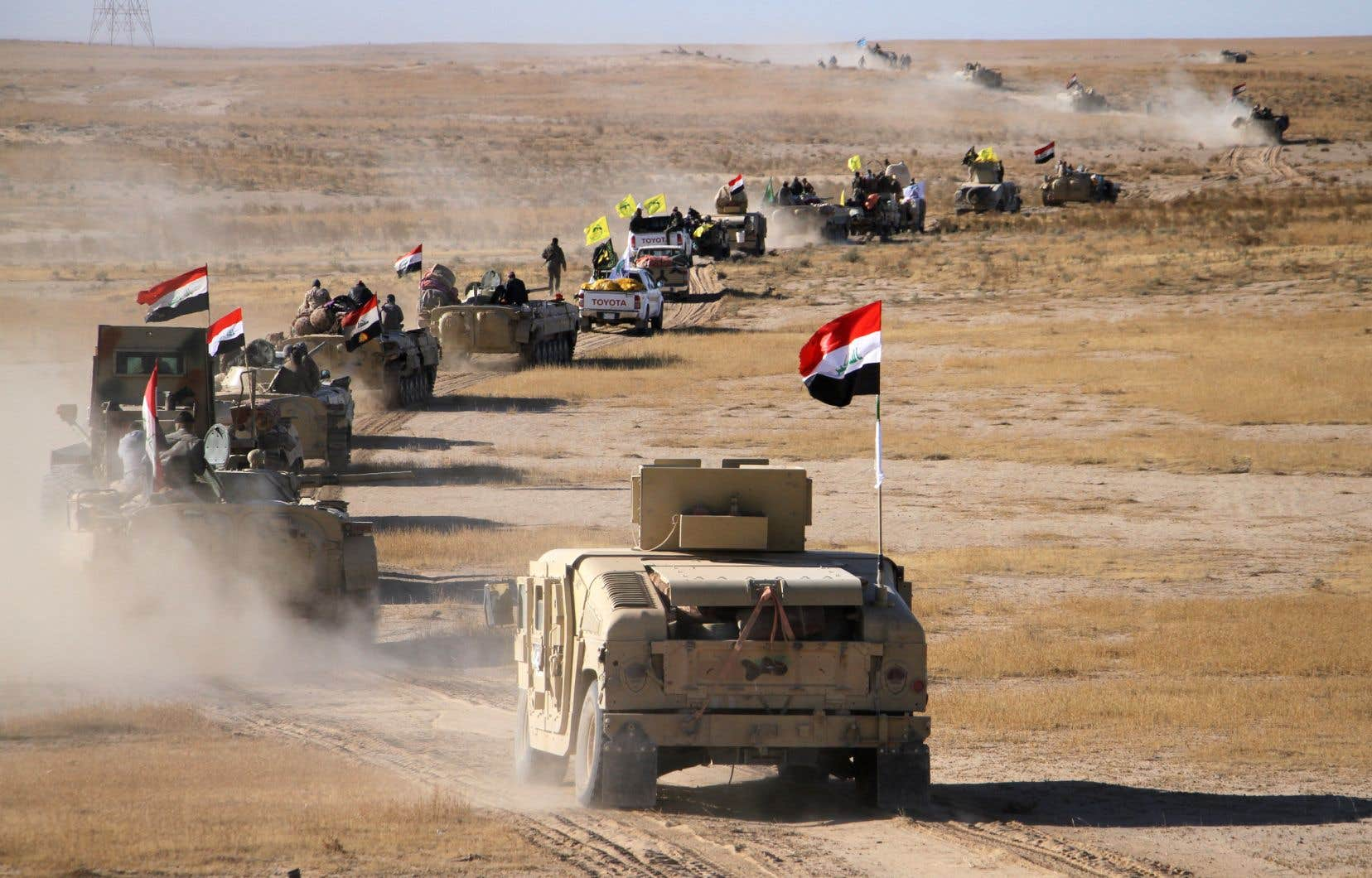 Pour Hicham al-Hachemi, expert en sécurité, les forces de sécurité cherchent à chasser environ un millier de combattants djihadistes des régions désertiques qui entourent Baïji, Rawah et Tharthar.