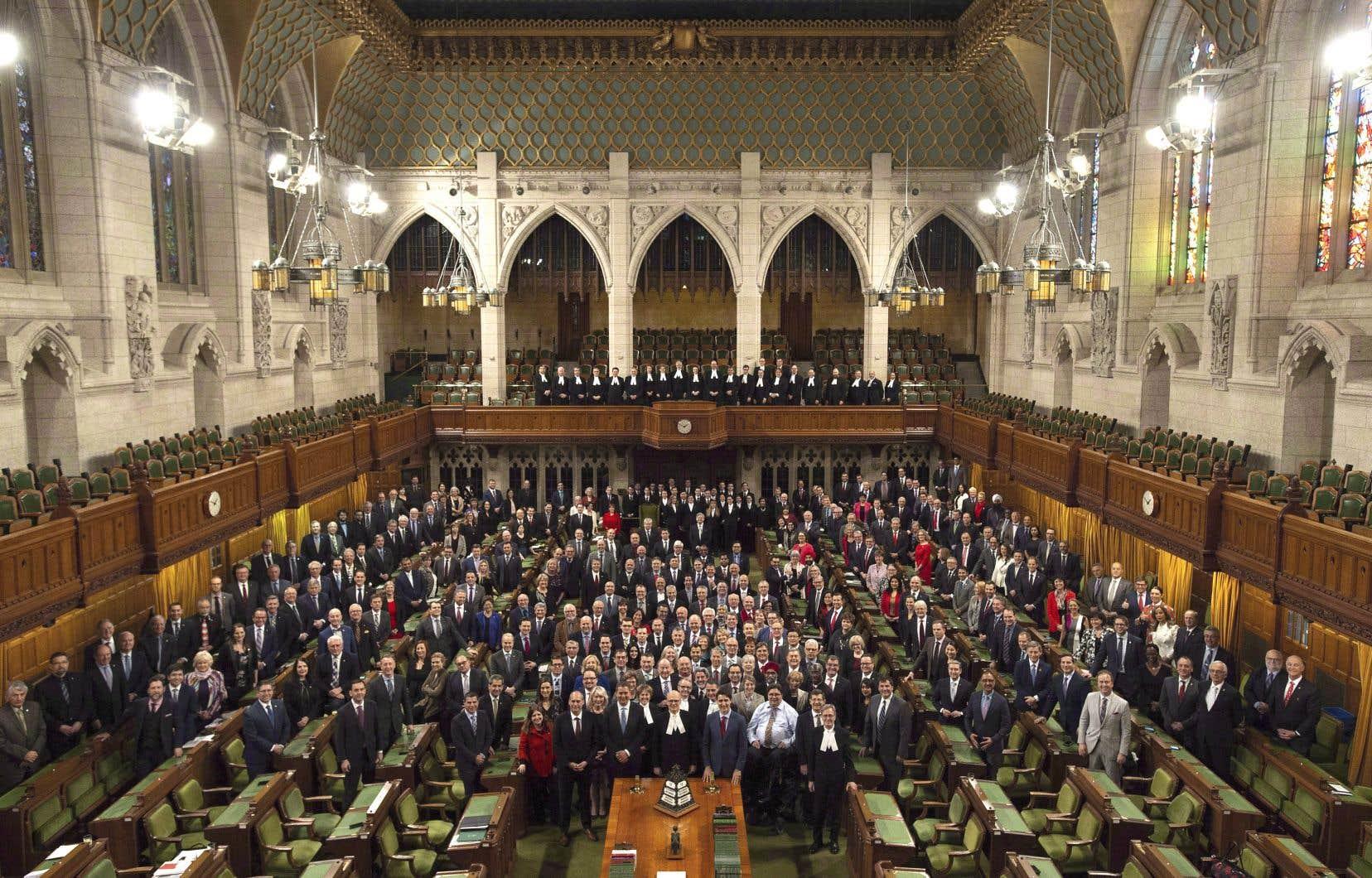 La Chambre des communes à la fin de la session parlementaire en décembre dernier