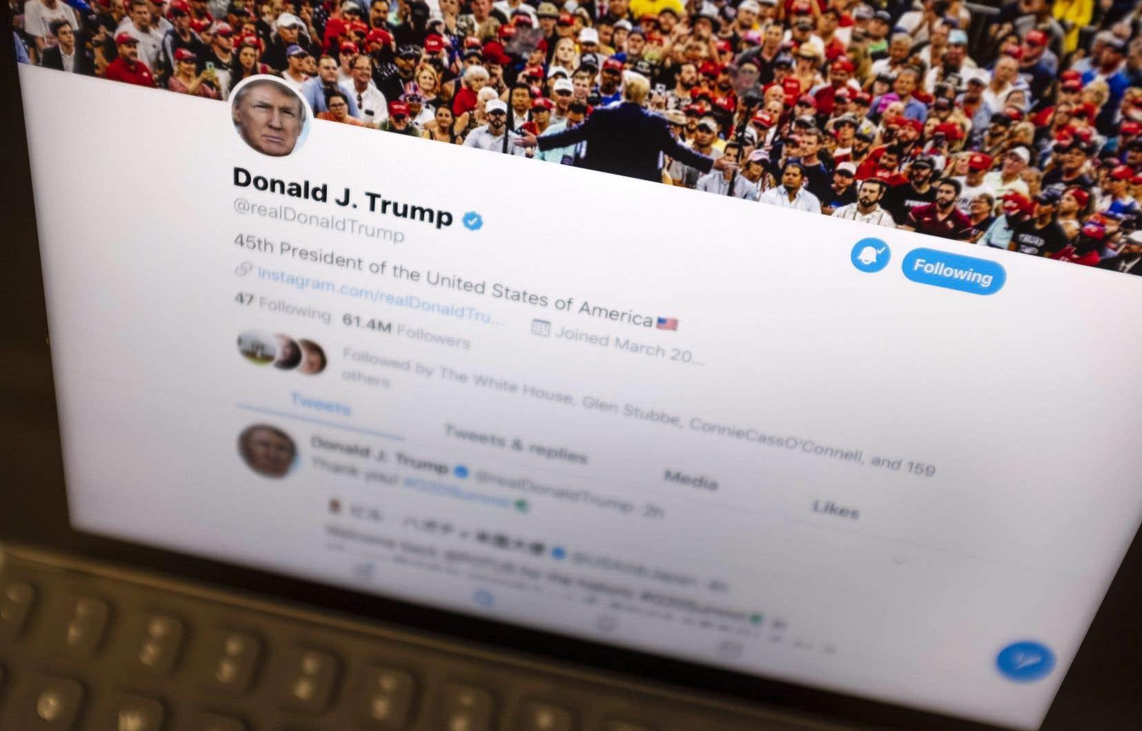 Donald Trump compte plus de 60millions d'abonnés à son compte Twitter.
