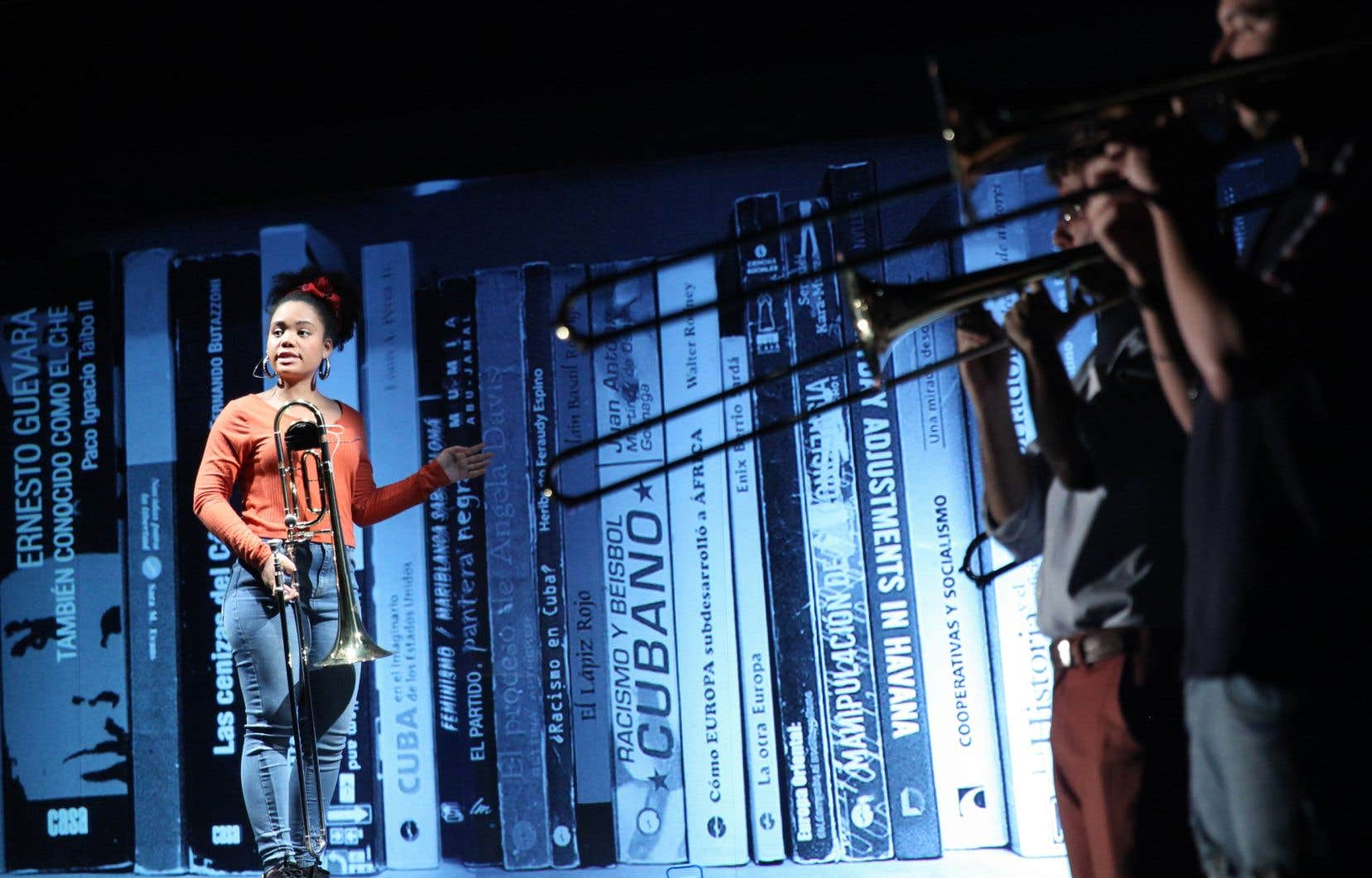 Diana Osumy Sainz, interprète de Granma. Trombones de «La Havane».