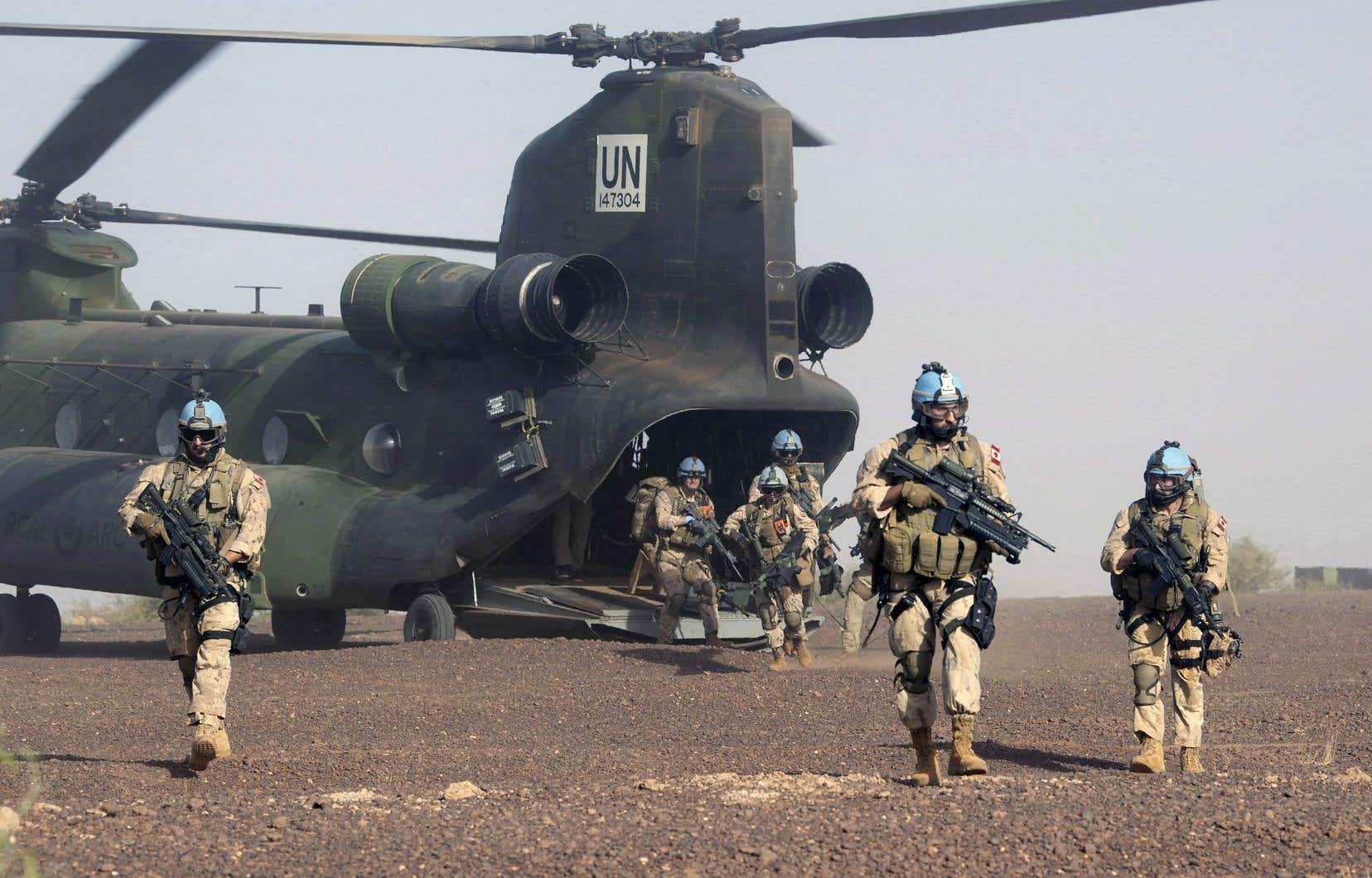 L'armée canadienne se concentre pour le moment sur sa mission d'hélicoptères au Mali, a indiqué le porte-parole de la Défense.