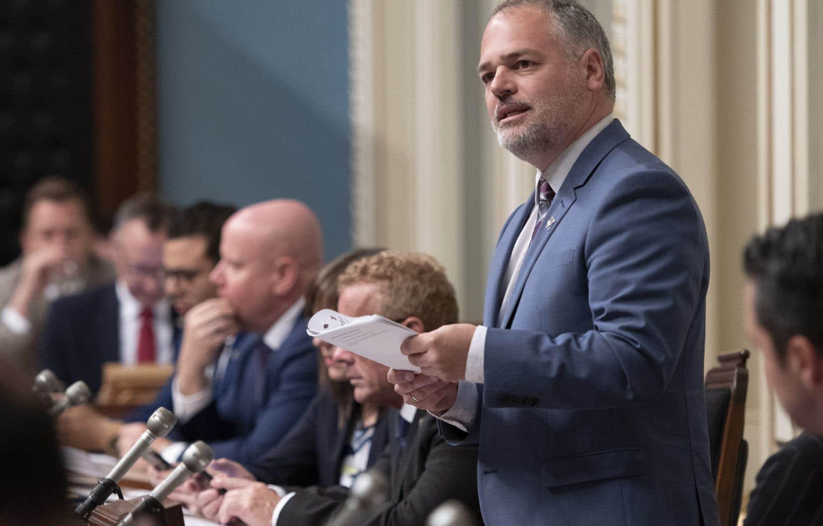 Le ministre québécois de l'Énergie et des Ressources naturelles, Jonatan Julien