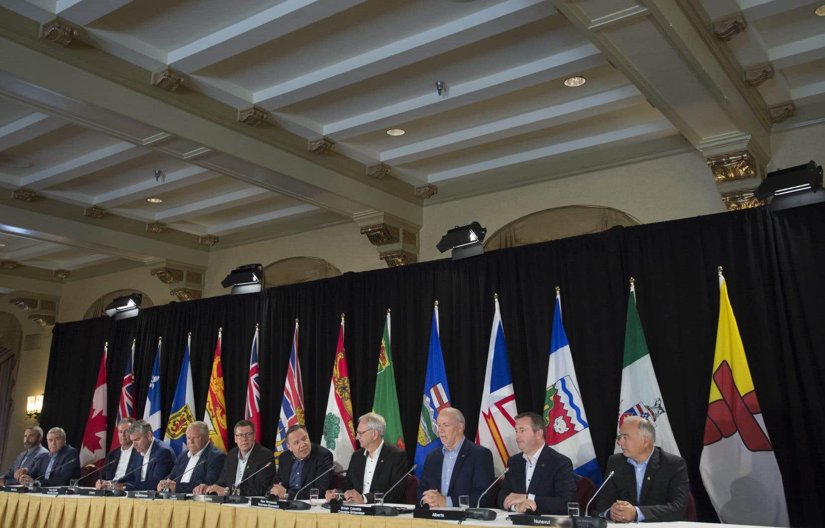 Les 13 premiers ministres réunis à Saskatoon ont rappelé, dans une lettre transmise à chacun des chefs de partis politiques fédéraux en prévision des élections canadiennes, que «le Canada fonctionne à son meilleur lorsque le partage des compétences est respecté».