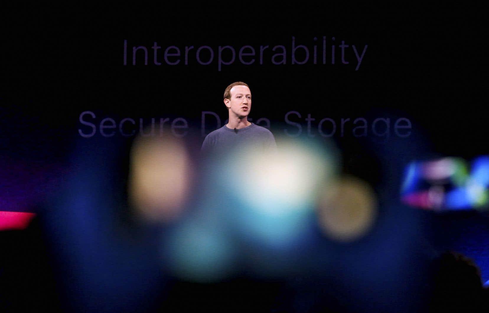 Mark Zuckerberg, patron de Facebook. La compagniea pour projet de lancer sa monnaie virtuelle Libra au premier semestre 2020.