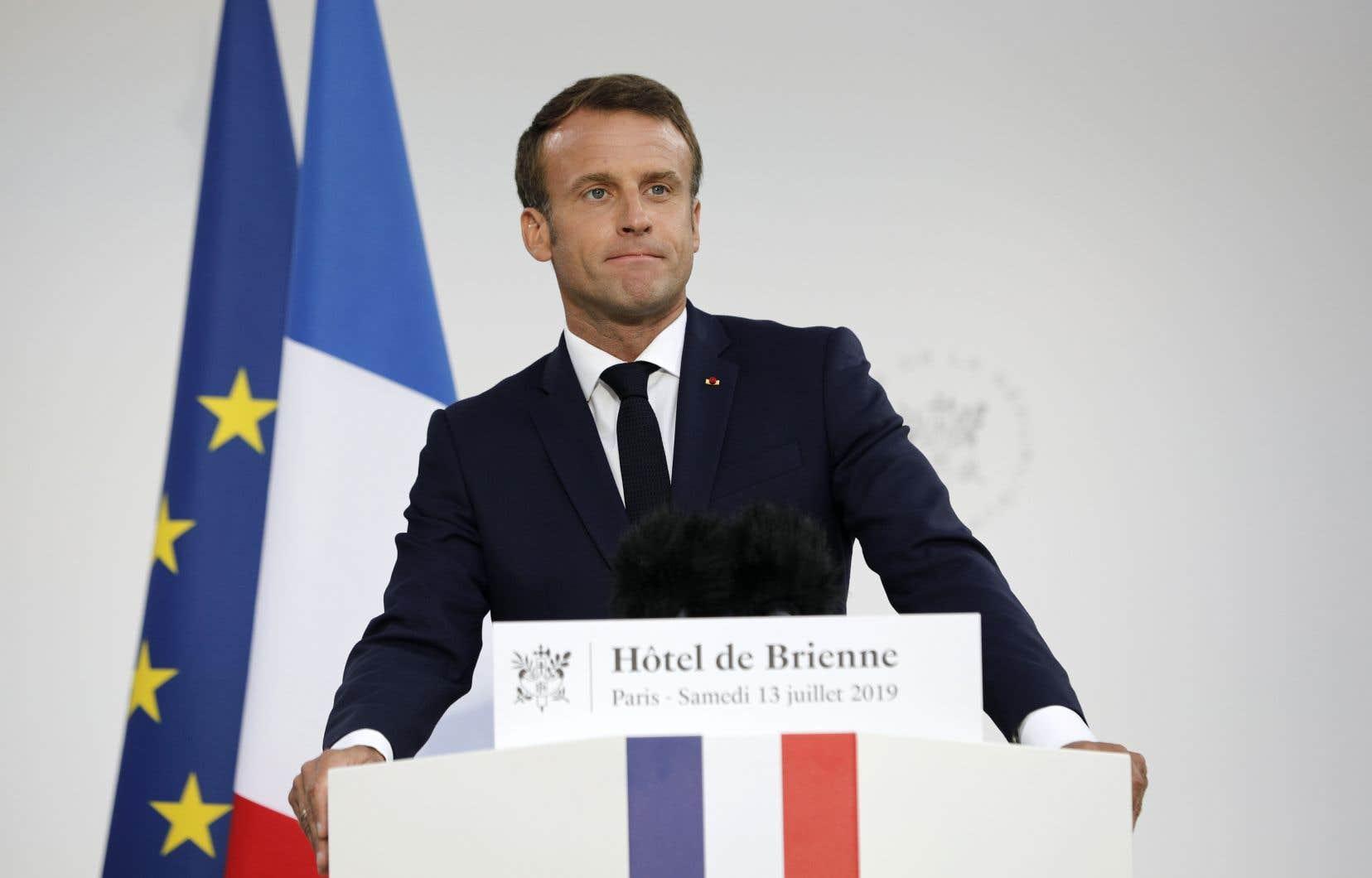 Le président français, Emmanuel Macron, a qualifié l'espace de«véritable enjeu de sécurité nationale».