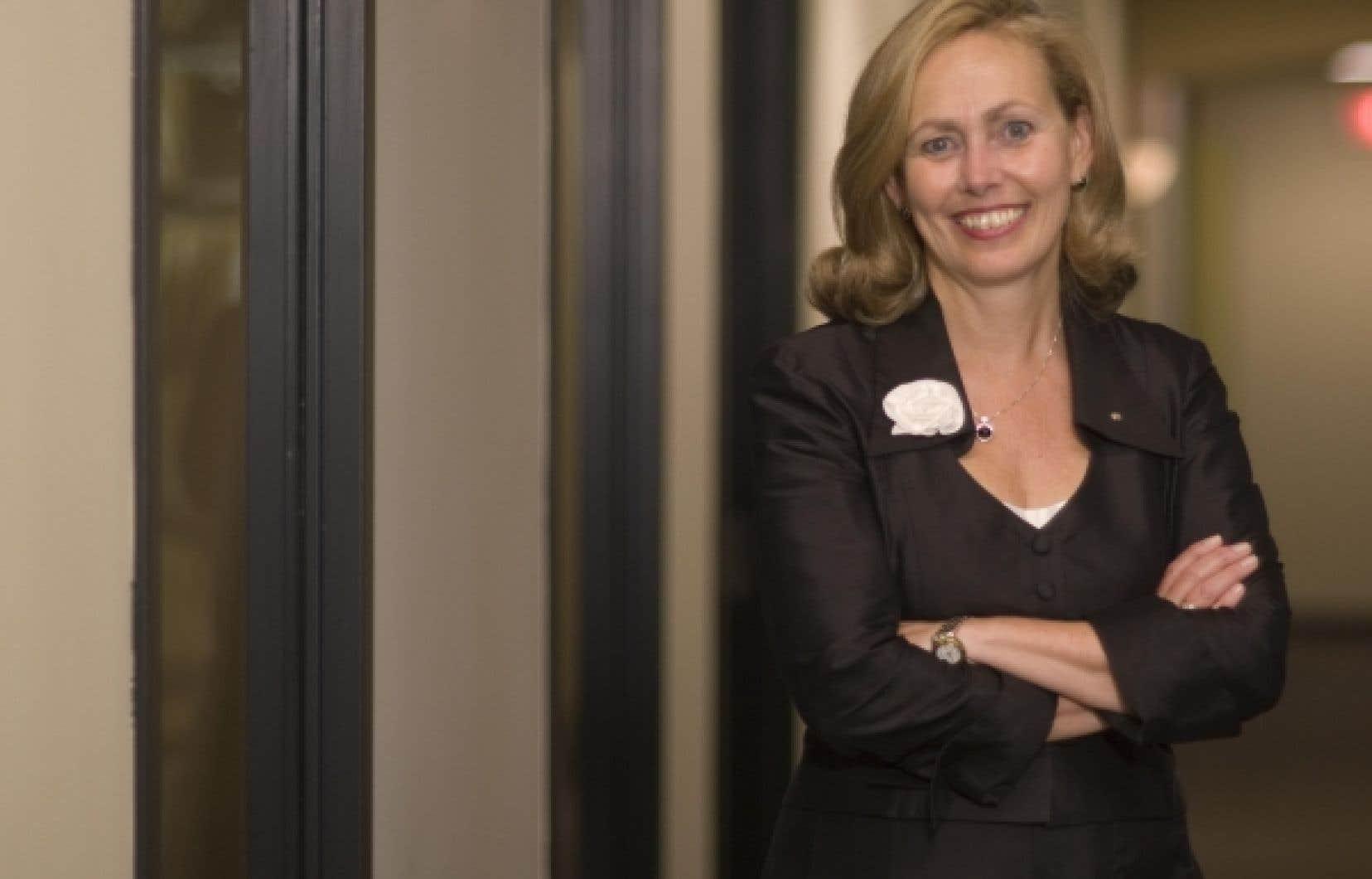 Monique Leroux, pr&eacute;sidente et chef de la direction de Desjardins.<br />