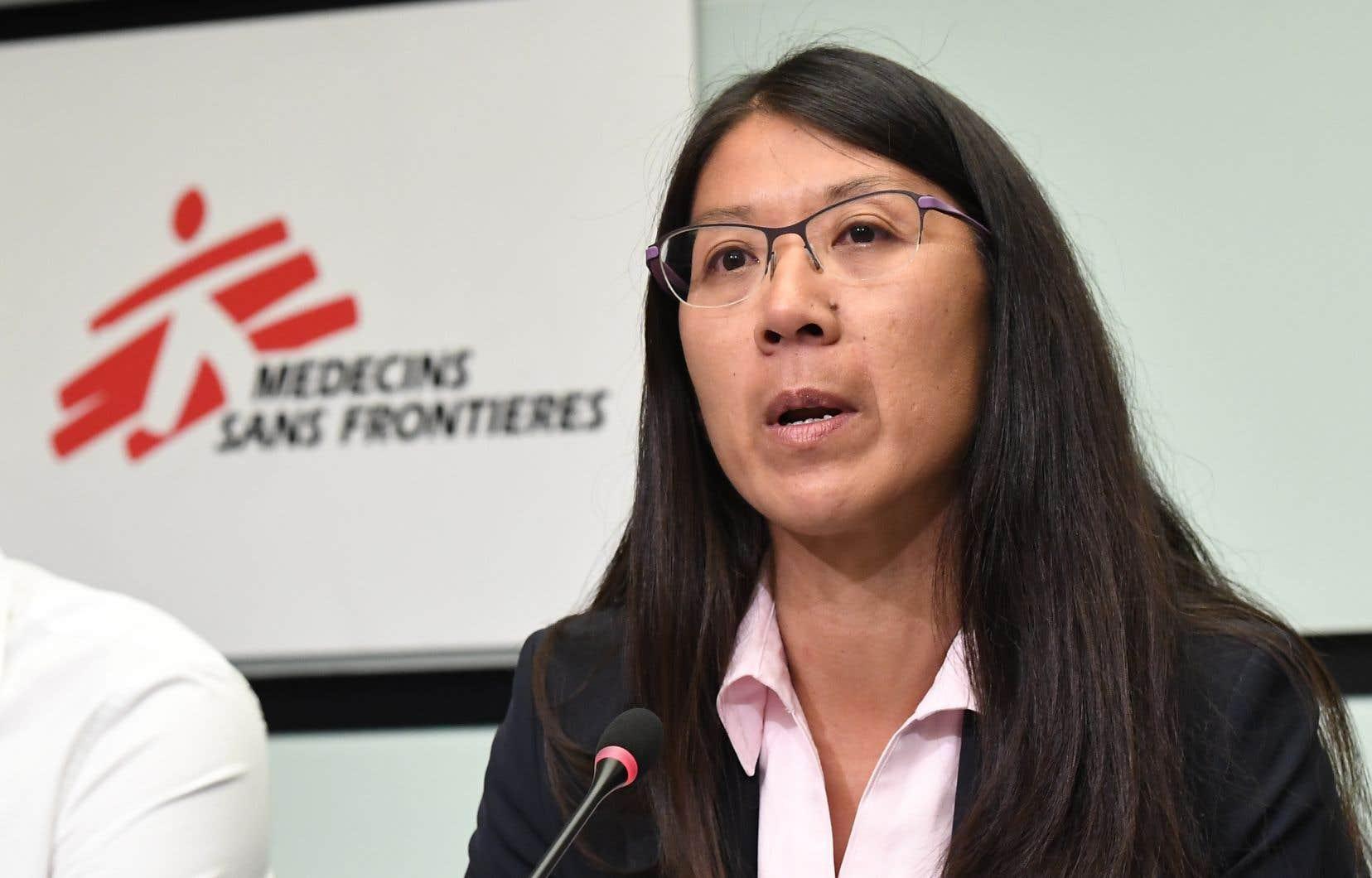 La Canadienne Joanne Liu, qui dirige à l'international MSF, a appelé à l'élargissement de la vaccination.