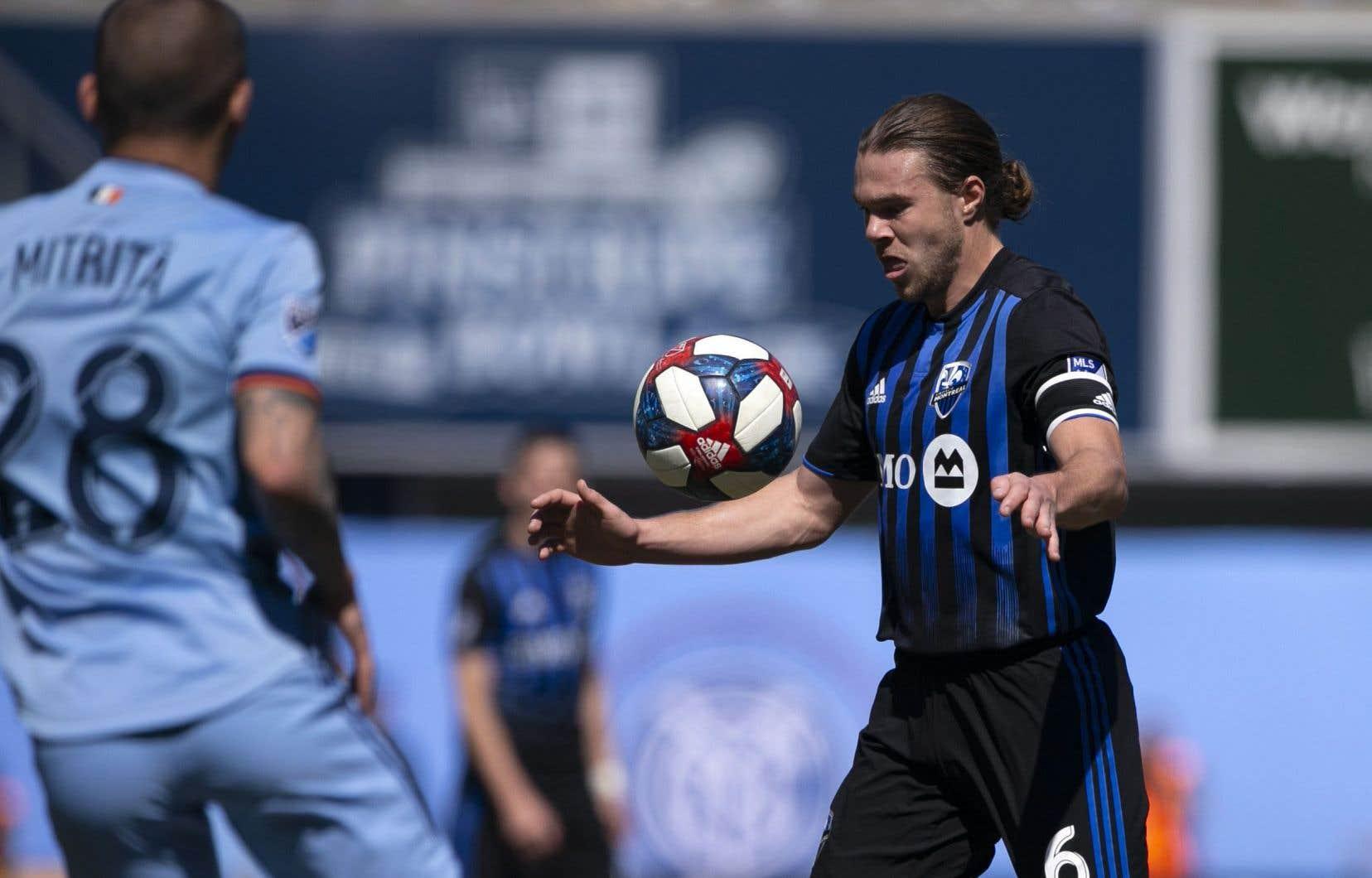 Le milieu de terrain Samuel Piette a subi une déchirure intercostale en deuxième demie du duel de samedi dernier contre le Toronto FC.