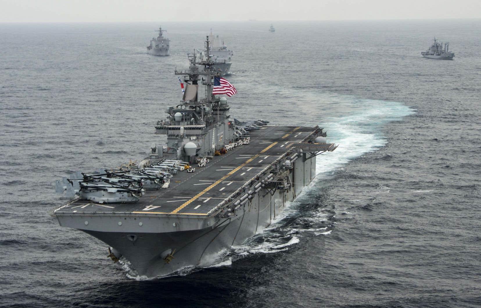 Selon le président américain, le drone iranien s'est approché à moins de 1000 mètres du navire «USS Boxer», qui a entrepris «une action défensive» et a détruit le drone.