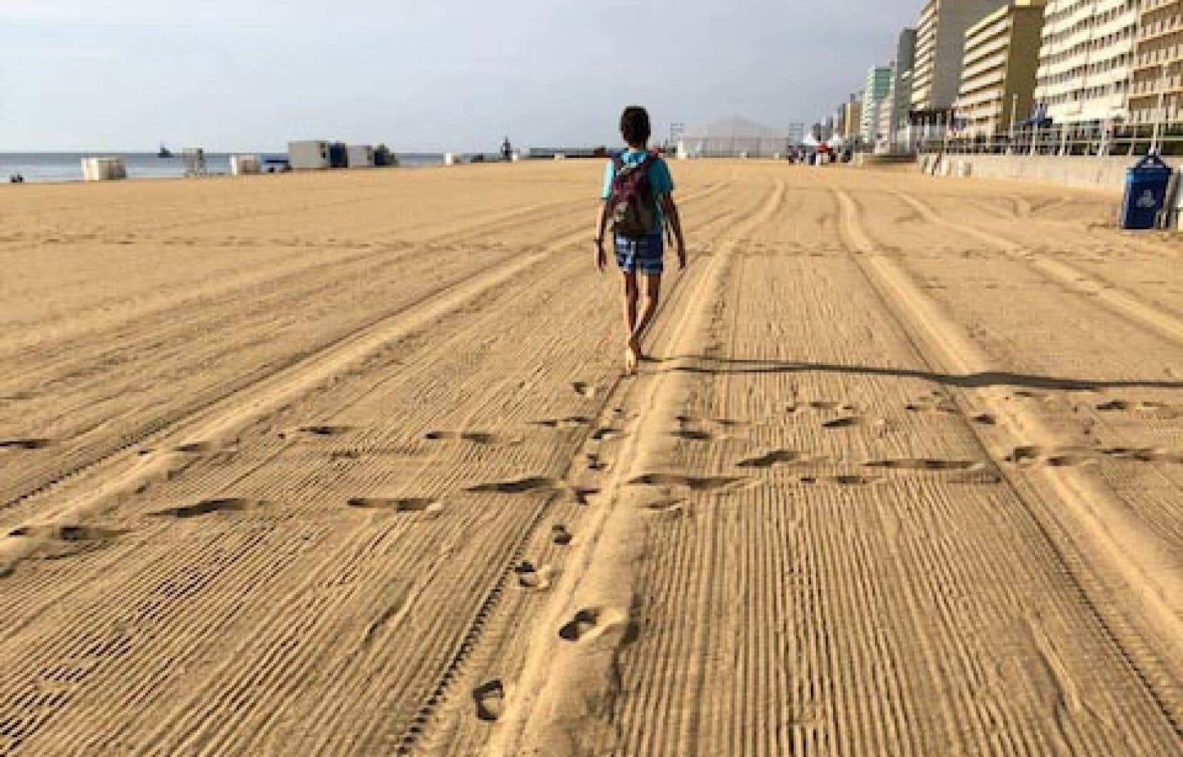La plage du boardwalk à 8 heures le matin
