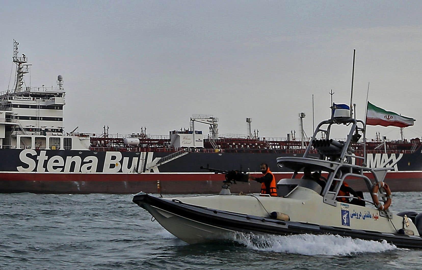 Propriété d'un armateur suédois, le pétrolier a été arraisonné vendredi par les Gardiens de la Révolution, l'armée idéologique iranienne.