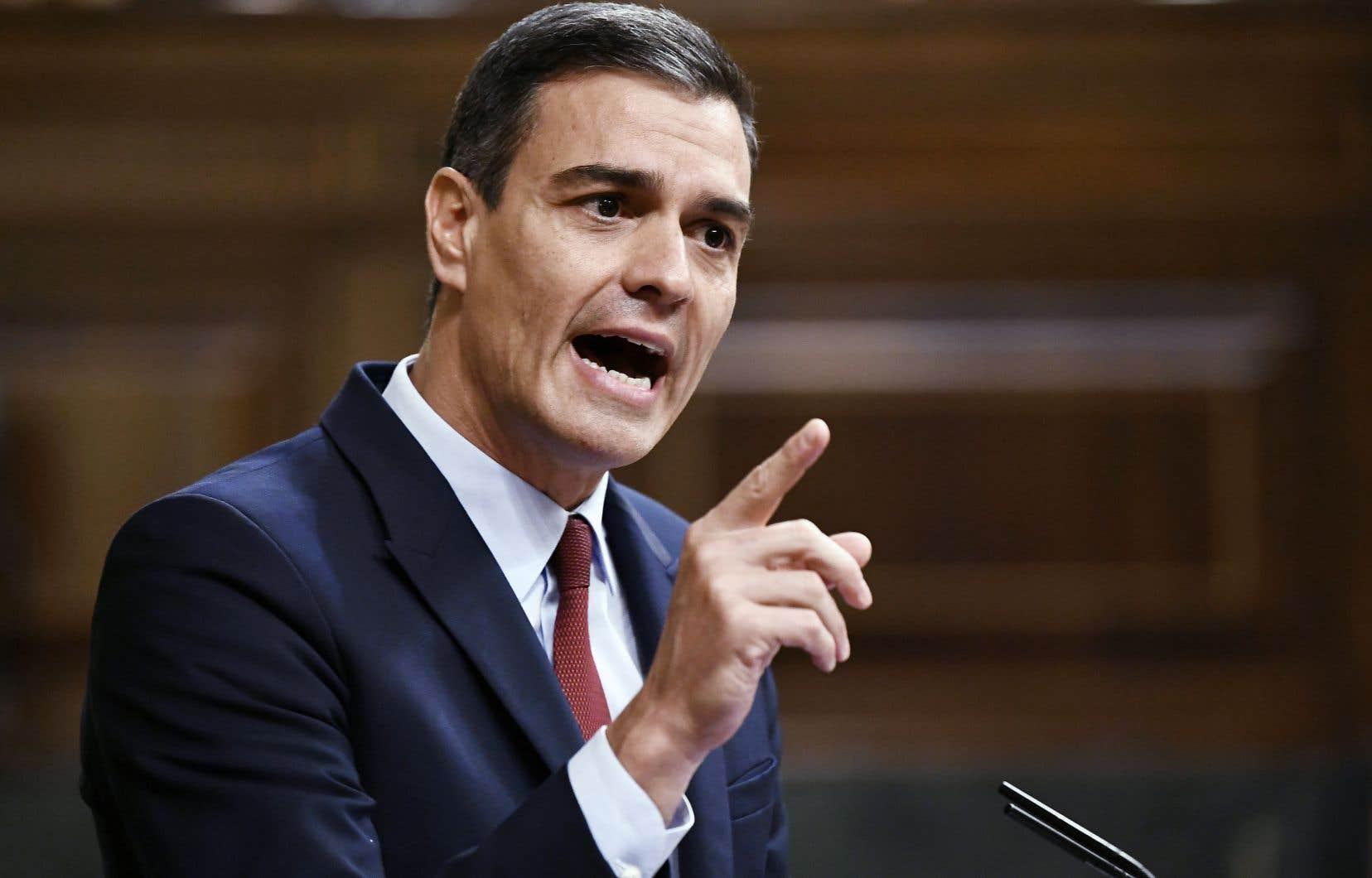 Le chef du gouvernement espagnol, Pedro Sanchez