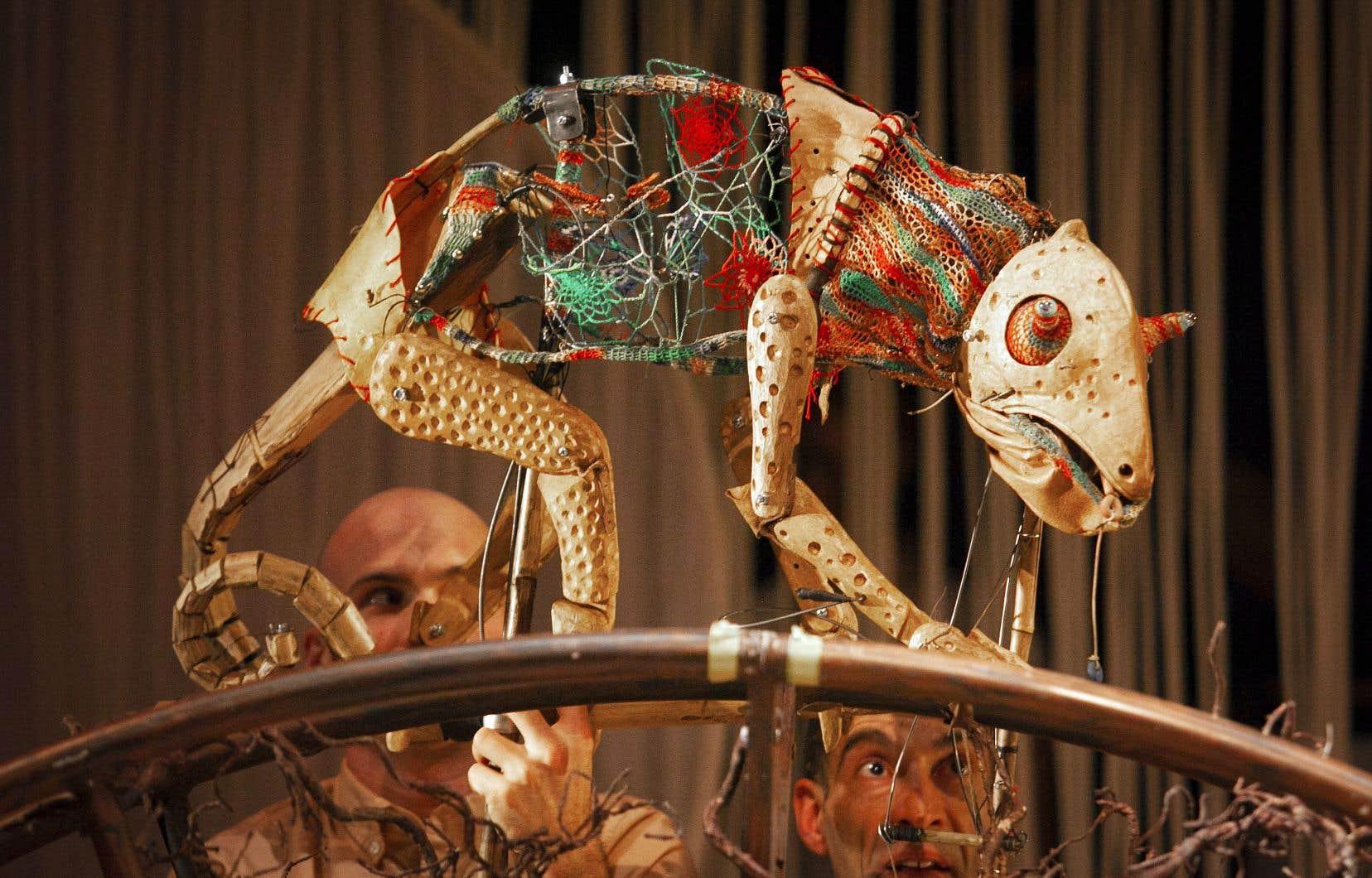 Le spectacle «Ganou-Gàla, la traversée», présenté en ouverture du festival, a été conçu successivement au Mexique, au Mali, en Suisse et au Canada.