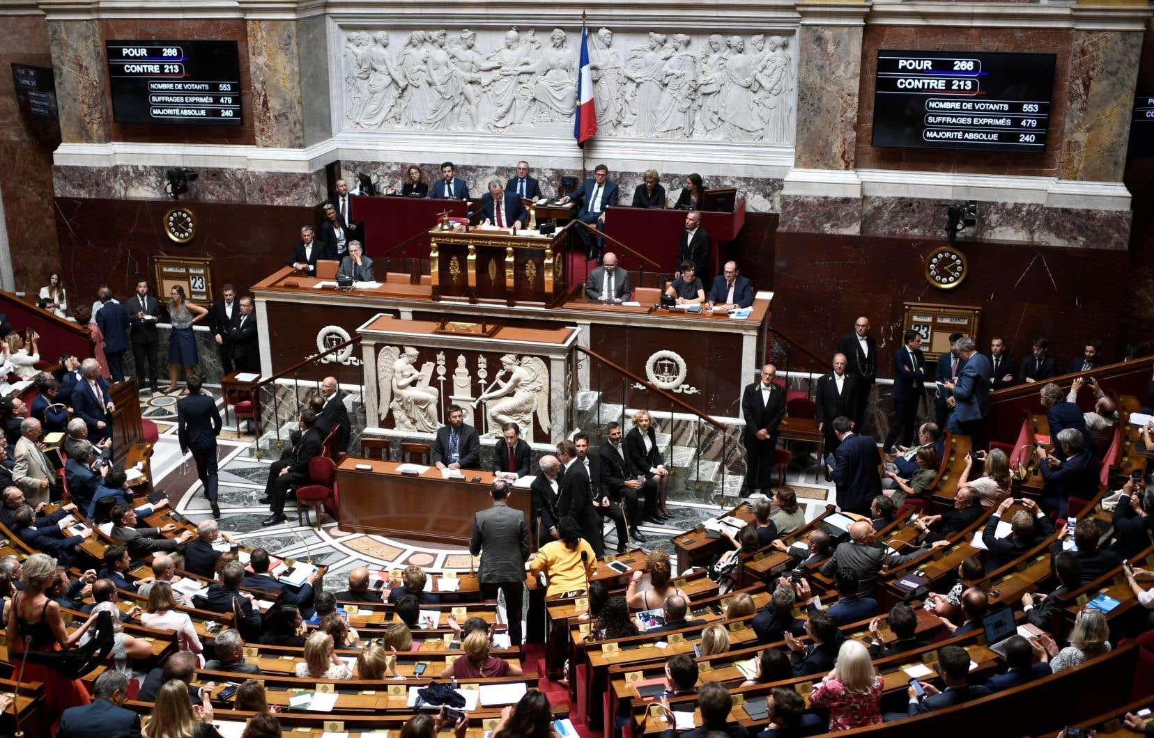 <p>Les députés français ont approuvé la ratification du traitépar 266 voix contre 213 et 74 abstentions.</p>