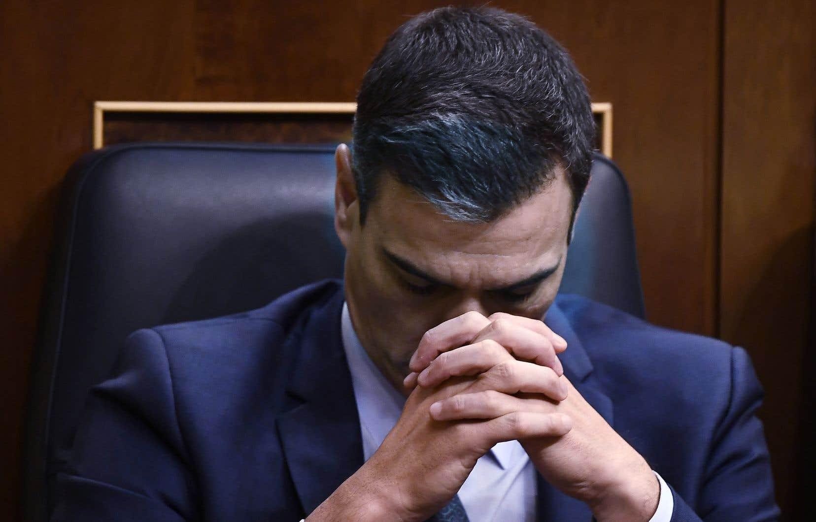 Pedro Sanchez a perdu son deuxième vote de confiance à 124 voix pour, 155 contre et 67 abstentions.