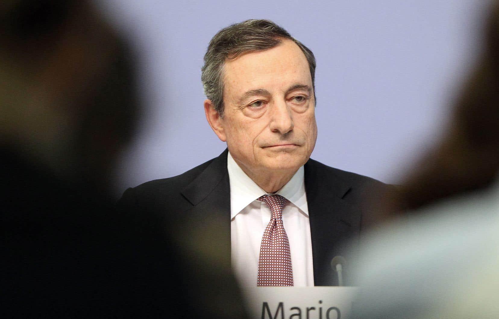 Le président de la BCE, Mario Draghi, a insisté sur la dégradation des perspectives économiques.