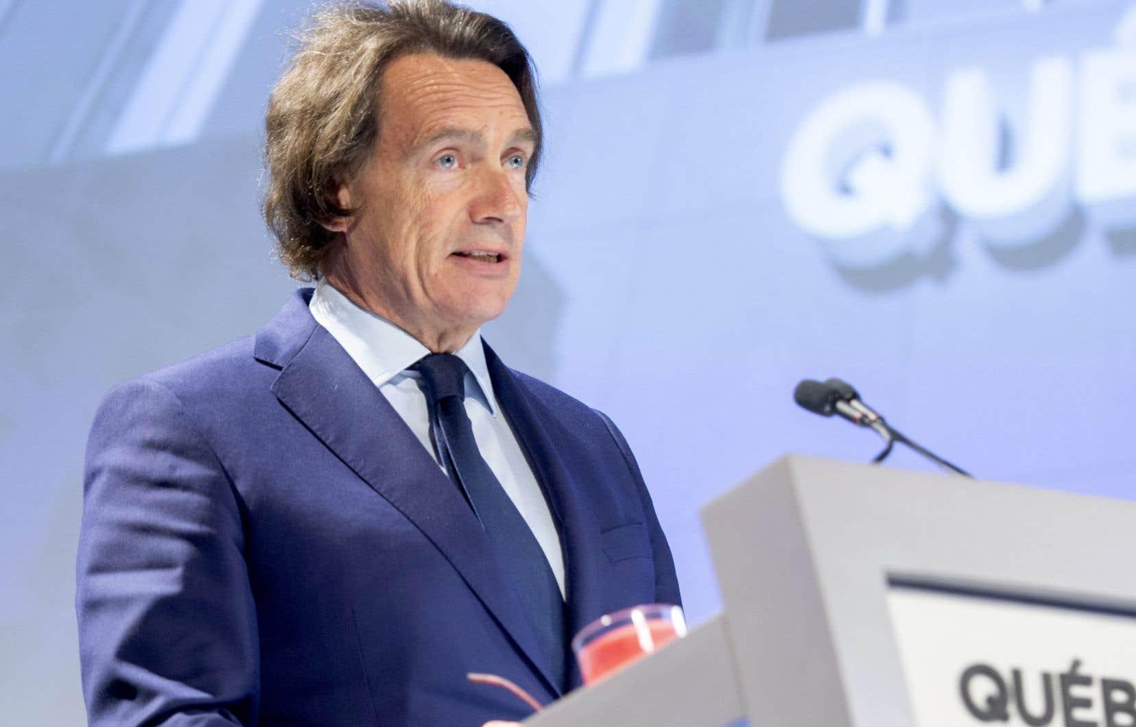 Le grand patron de Québecor, Pierre Karl Péladeau