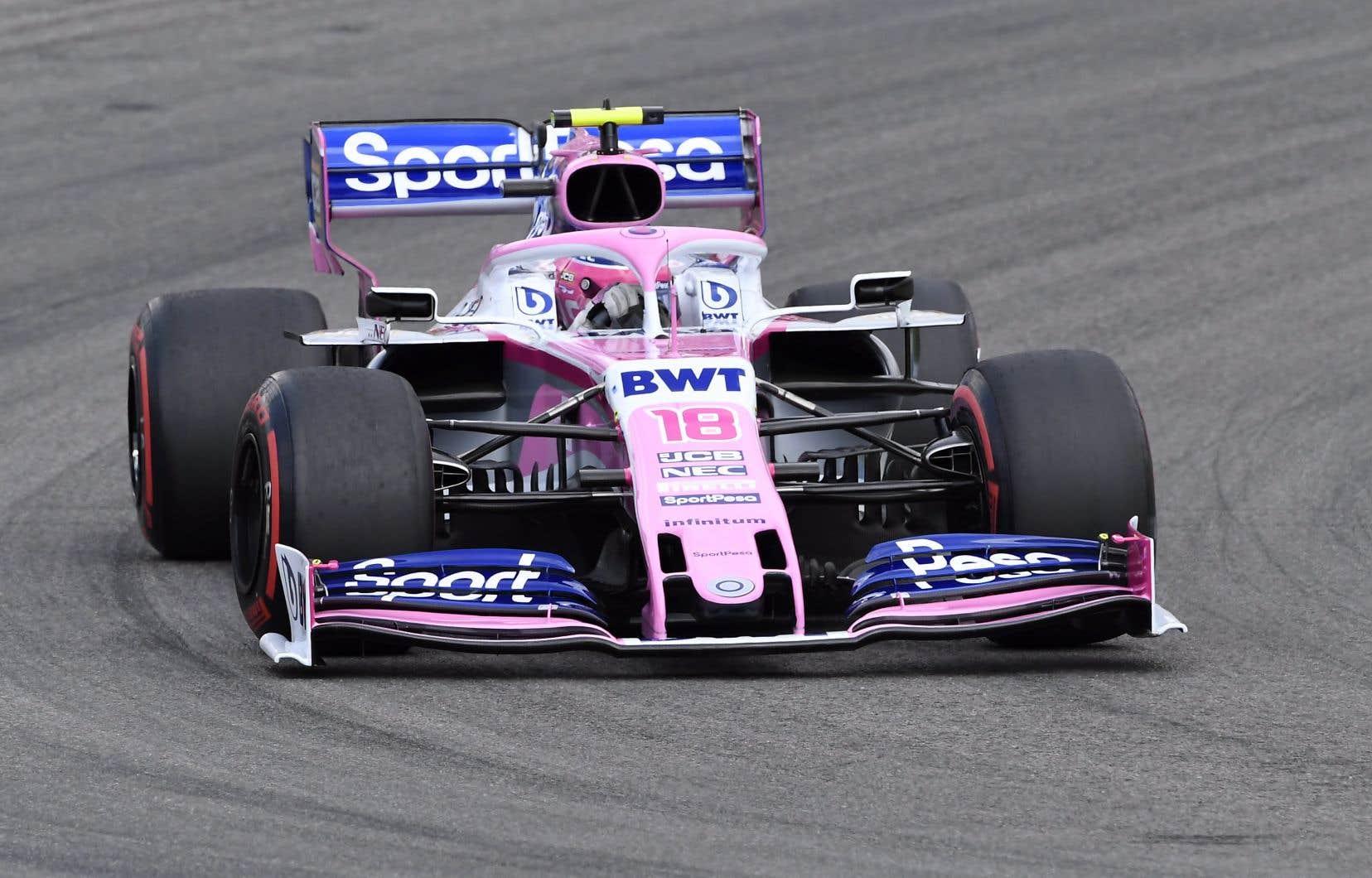 Le Québécois Lance Stroll s'est classé 4eavec Racing Point à ce pluvieux Grand Prix d'Allemagne. Il s'agit de son meilleur résultat depuis sa 3eplace en Azerbaïdjan, en 2017.