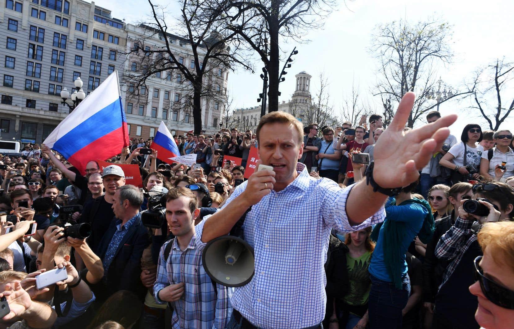 En mai 2018, Alexeï Navalny prenait part à une manifestation interdite contre le gouvernement de Poutine qui entamait un quatrième mandat. L'opposant numéro un au Kremlin a été renvoyé en prison mercredi, à deux jours d'un rassemblement de l'opposition pour des élections libres.