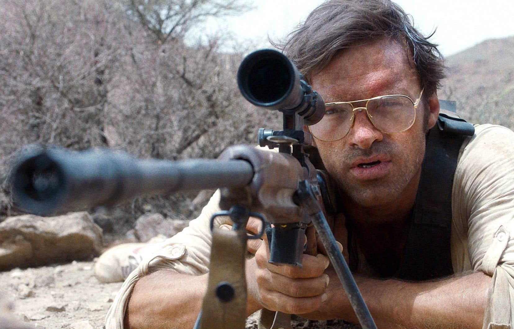 L'acteur français Alban Lenoir (sur la photo) incarne le chef d'un groupe de tireurs d'élite dans «L'intervention», le plus récent film de Fred Grivois.