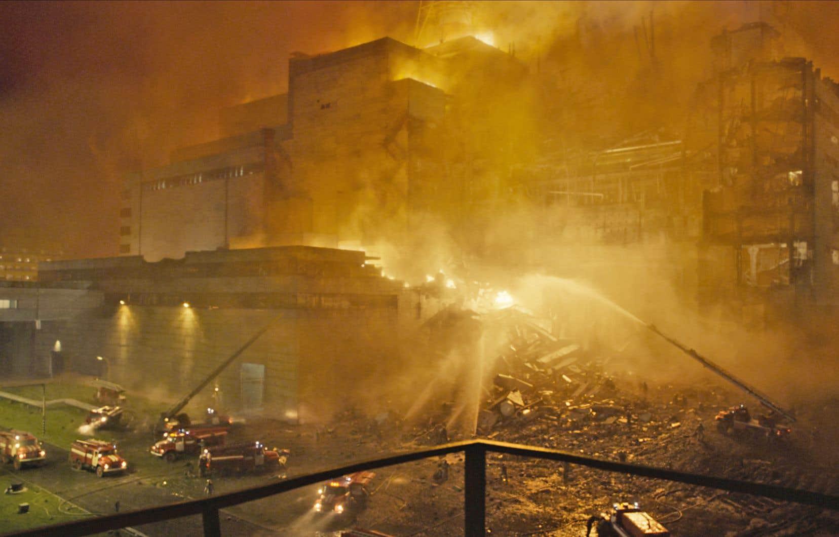 La minisérie «Tchernobyl», attire de nombreux observateurs curieux dans les lieux de tournage en Lituanie. Ci-dessus, une image tirée d'une scène de la série.