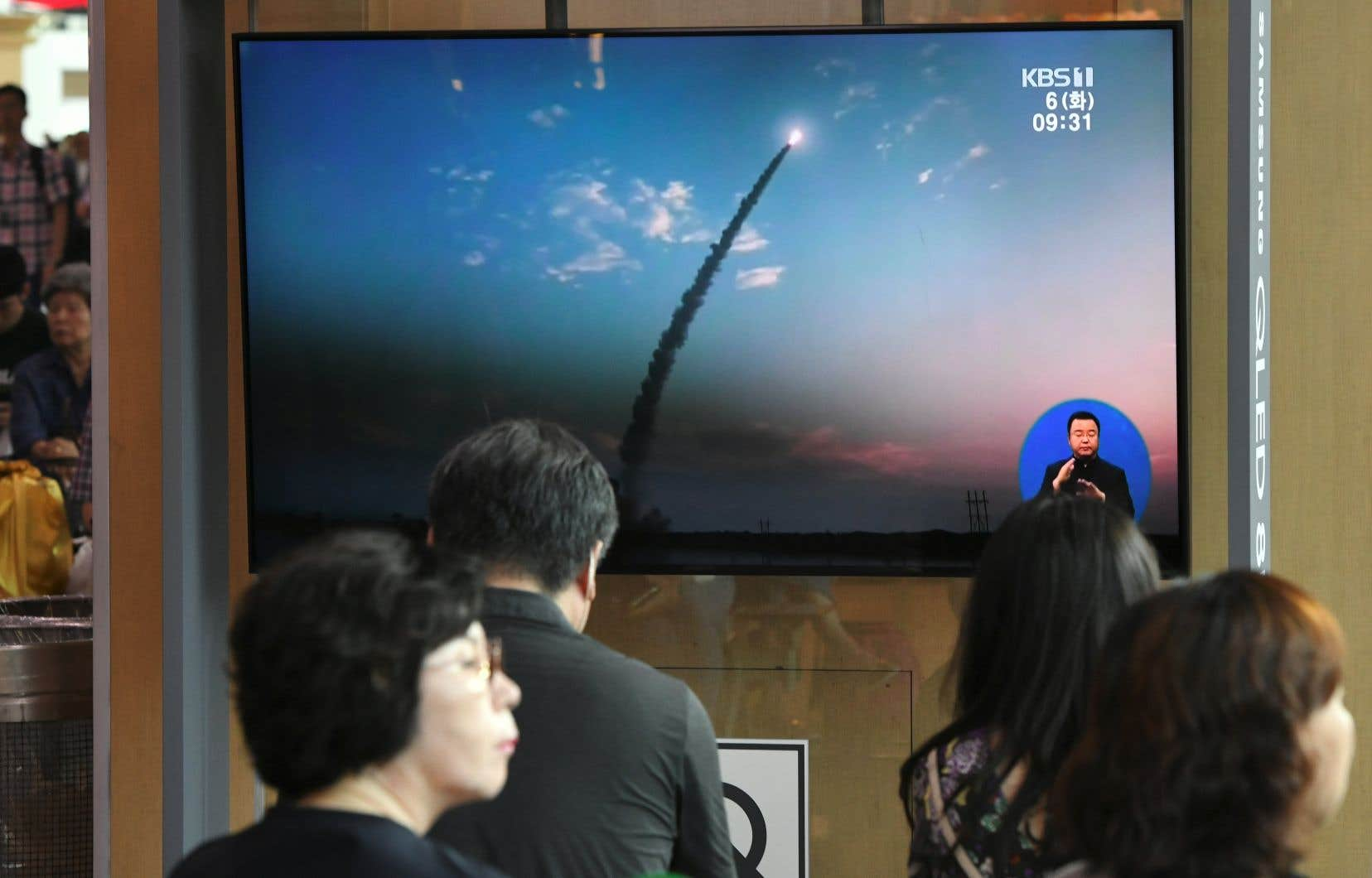 La Corée du Nord a tiré, dans la province de Hwanghae du Sud, «deux projectiles soupçonnés d'être des missiles balistiques de courte portée».