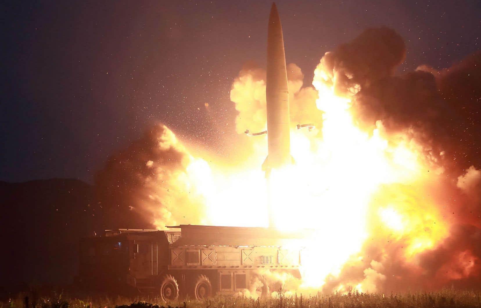 Pyongyang a tiré des missiles de courte portée, mardi, pour la quatrième fois en moins de deux semaines.