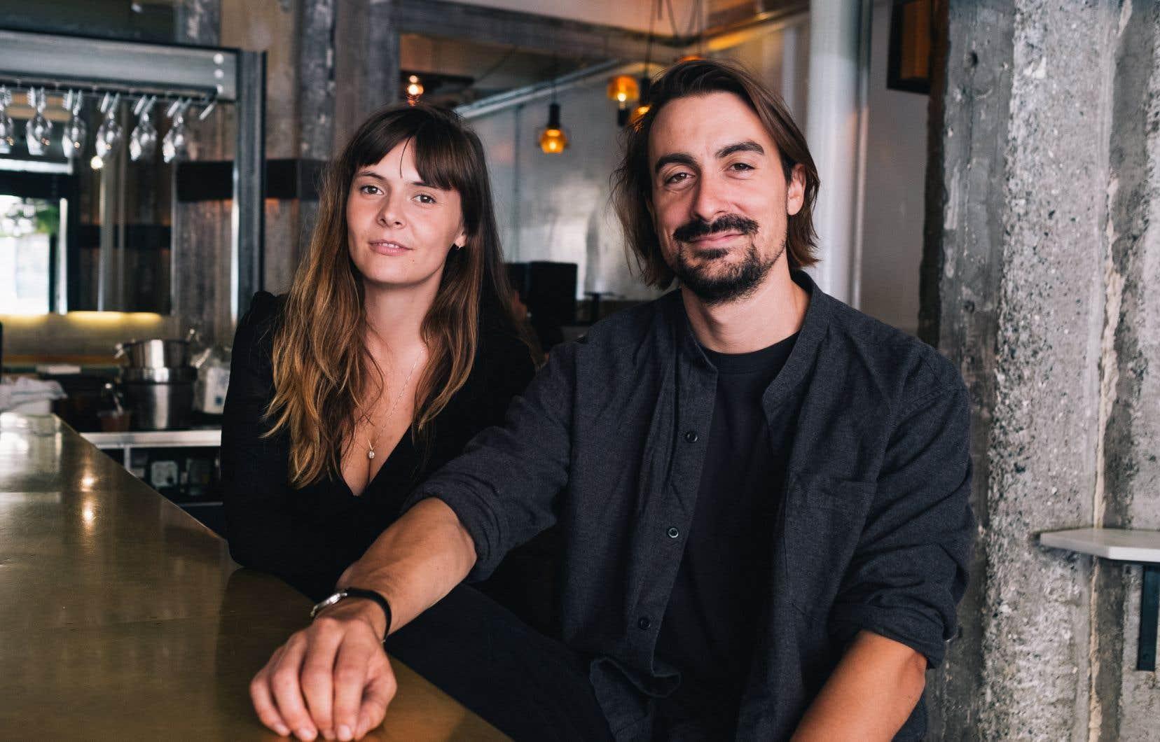 L'actrice Alexa-Jeanne Dubé et le réalisateur Alex B. Martin