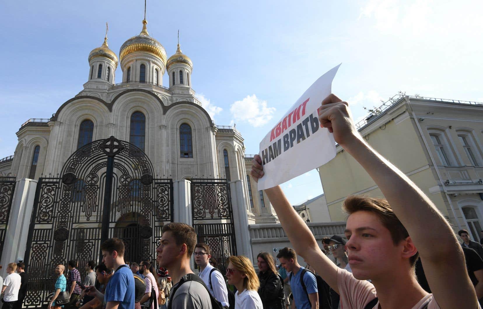 Il s'agira du 4e samedi consécutif de mobilisation pour queles 57 candidats d'opposition rejetés mi-juillet par la commission électorale puissent participer aux élections du Parlement de Moscou.