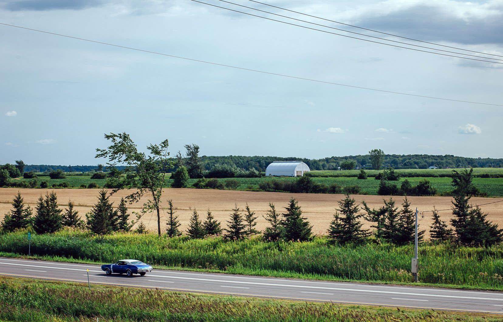 L'aérodrome projeté à Saint-Roch-de-l'Achigan serait construit sur des terres agricoles en bordure de l'autoroute 25.
