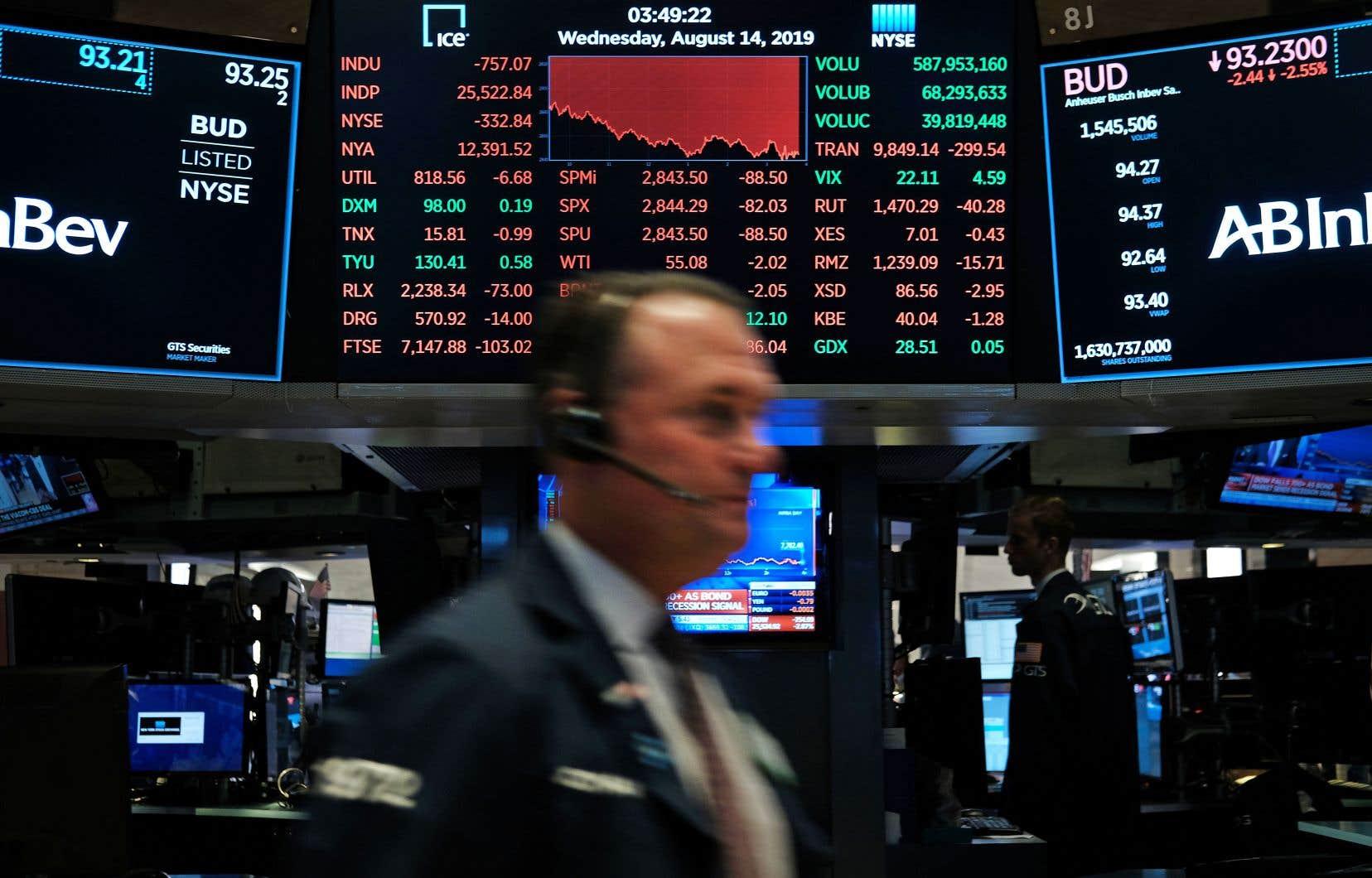 La Bourse de New York a encaissé mercredi sa plus lourde perte quotidienne de l'année.