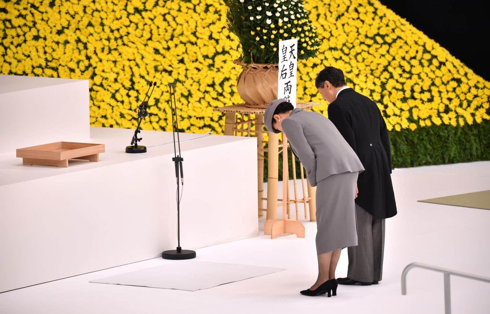 L'empereur Naruhito a participé à cette cérémonie annuelle, la première de l'ère Reiwa («belle harmonie»), avec son épouse, l'impératrice Masako.