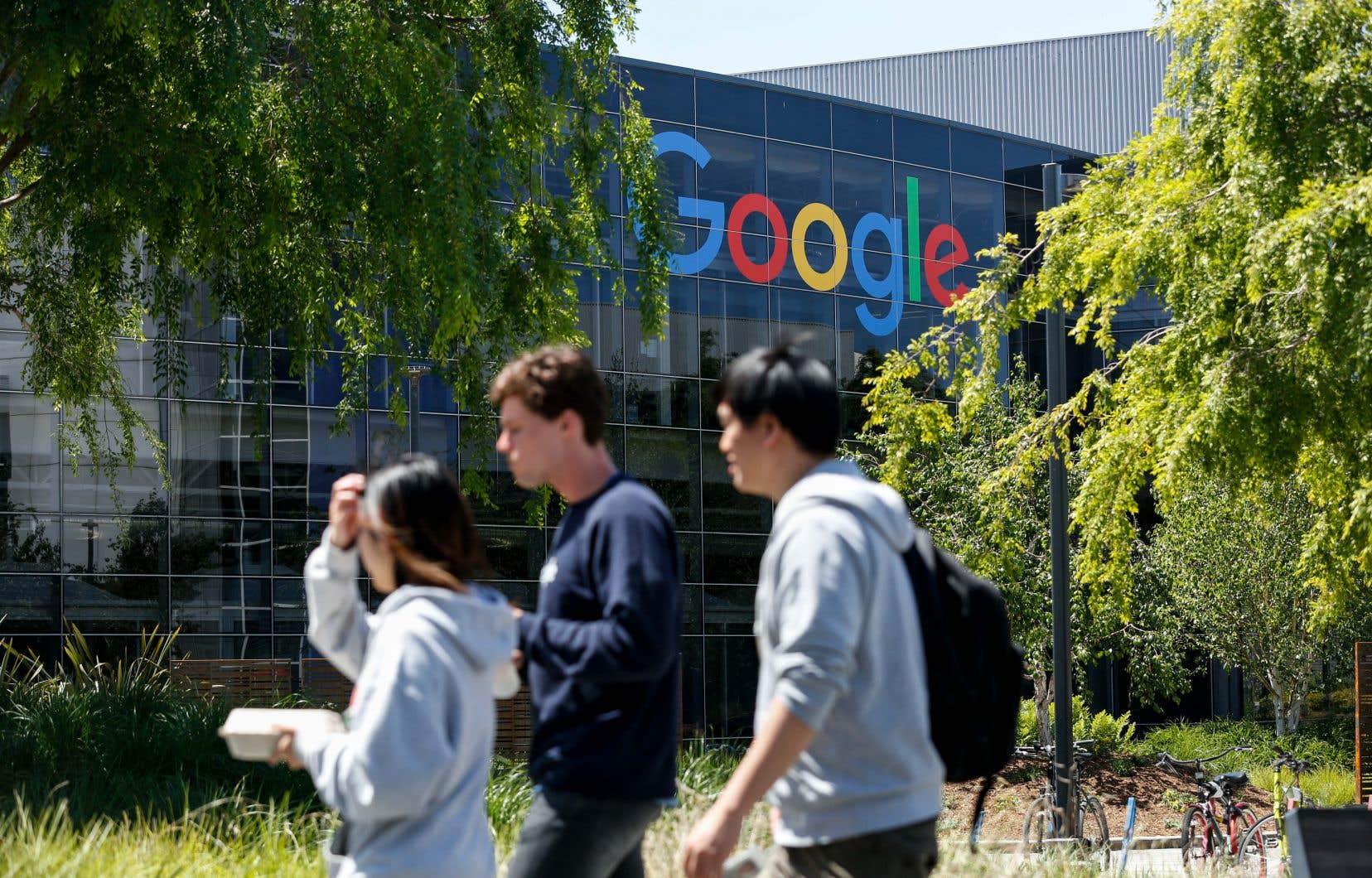 Une pétition a été signée par plus de 600 salariés de Google, selon un décompte en fin d'après-midi mercredi.